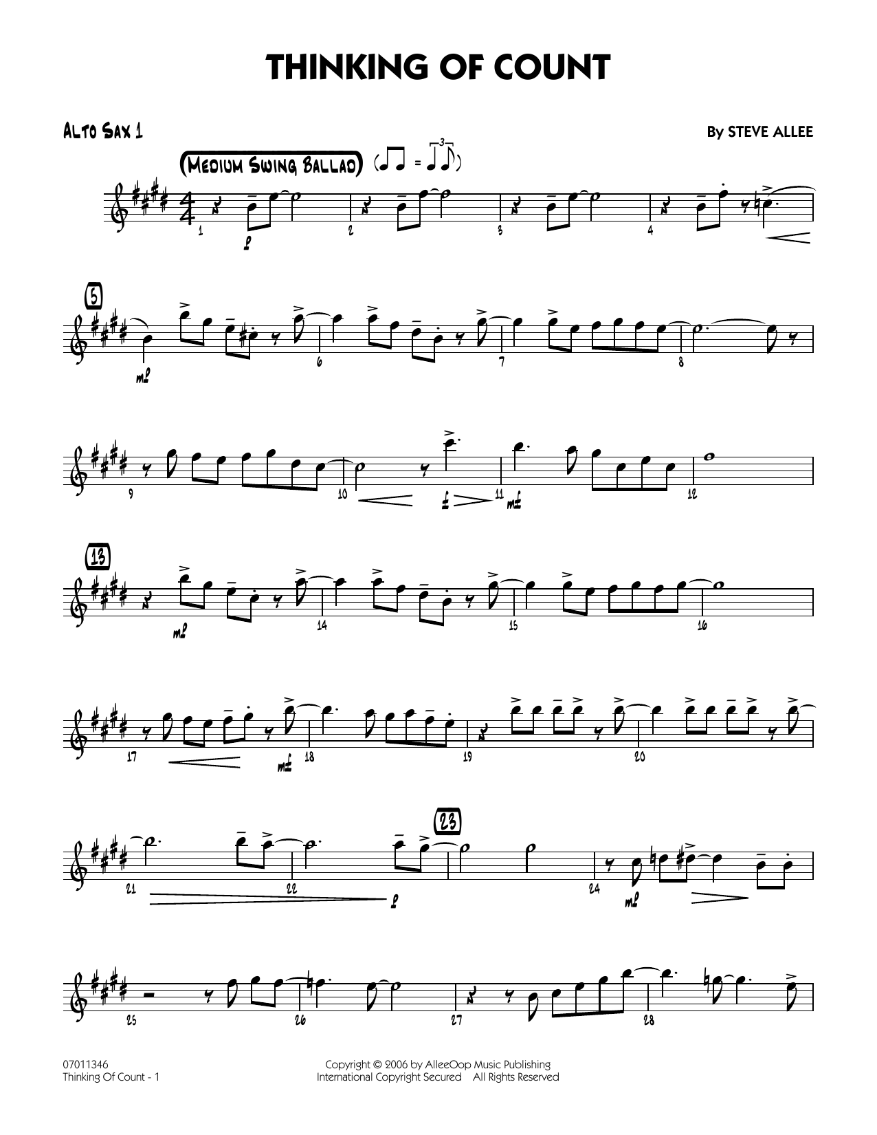 Thinking of Count - Alto Sax 1