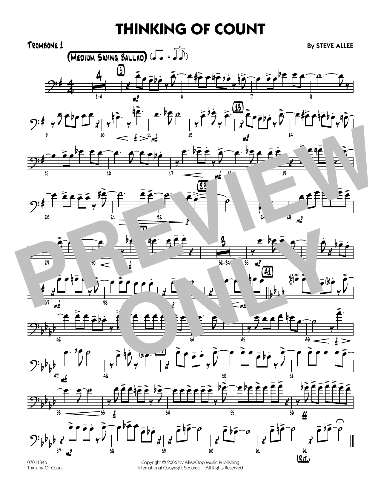 Thinking of Count - Trombone 1
