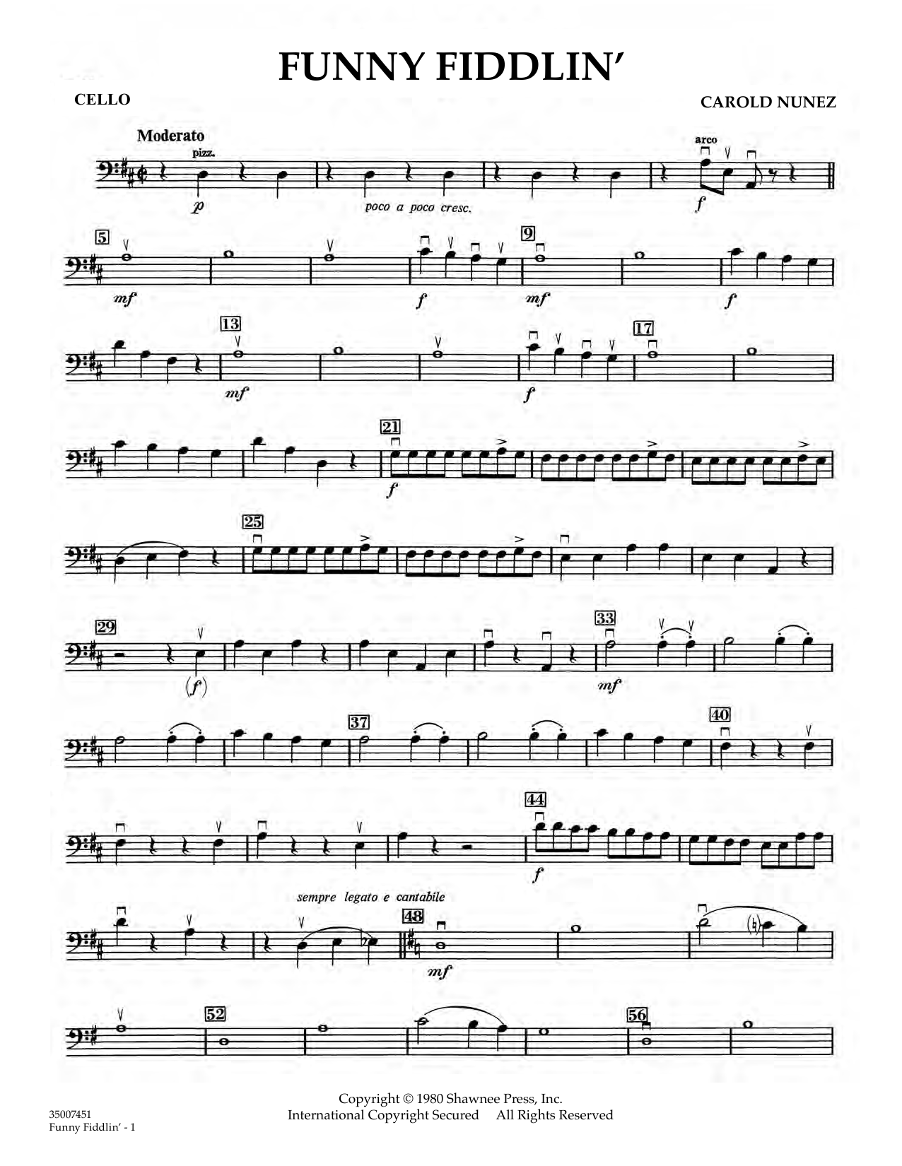 Funny Fiddlin' - Cello