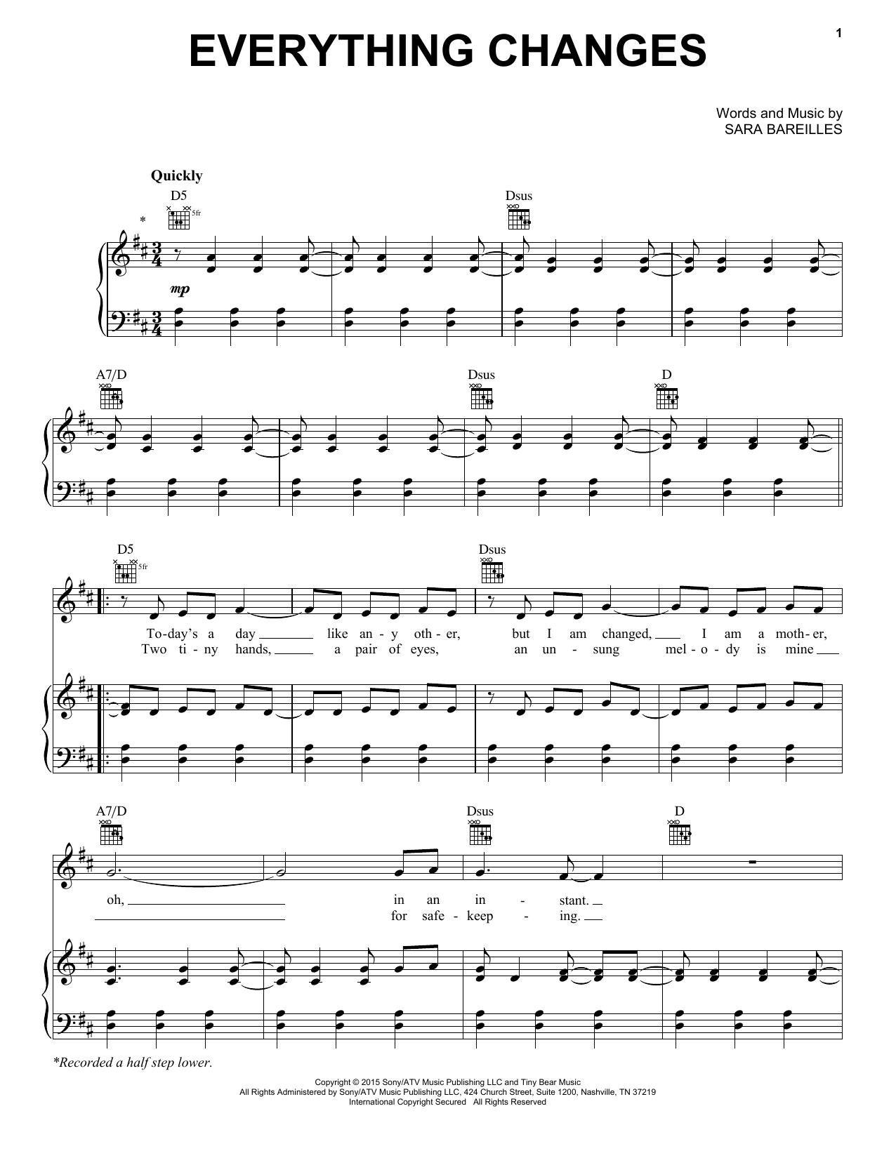 Sheet Music Digital Files To Print Licensed Sara Bareilles Digital