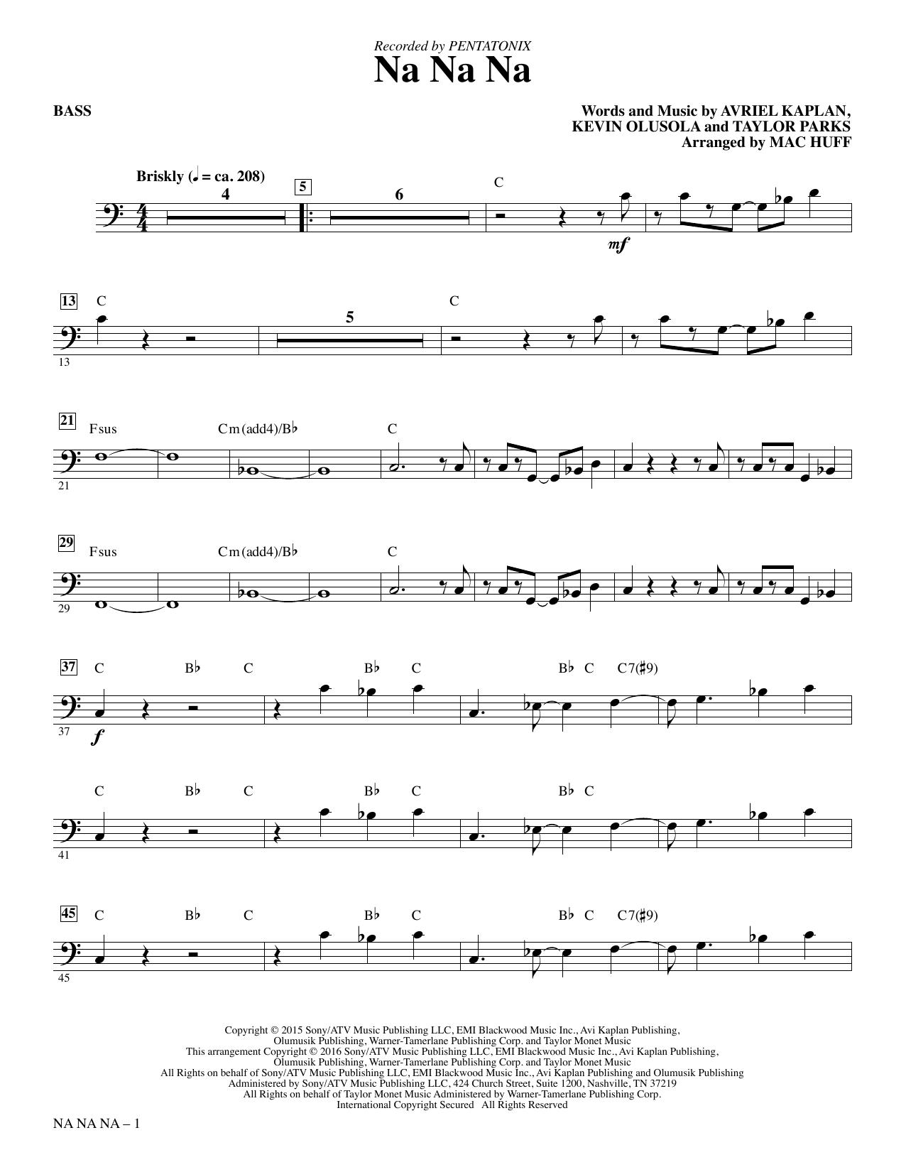 Pentatonix - Na Na Na - Bass