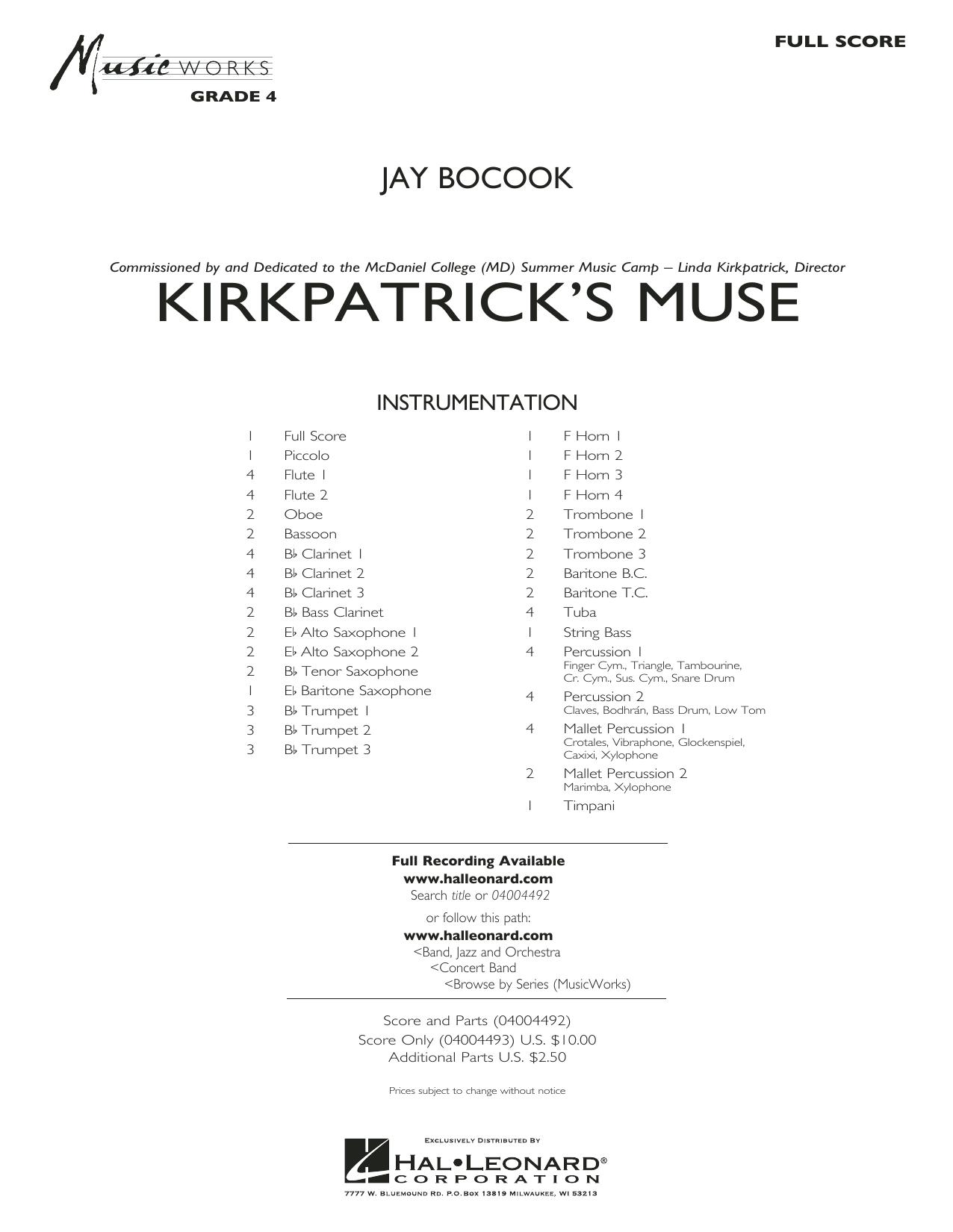 Kirkpatrick's Muse - Conductor Score (Full Score)