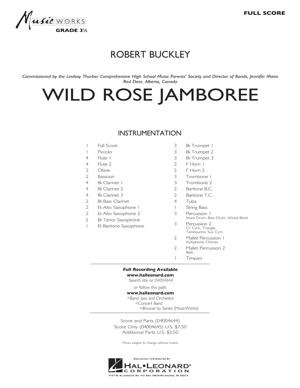 Wild Rose Jamboree - Conductor Score (Full Score)