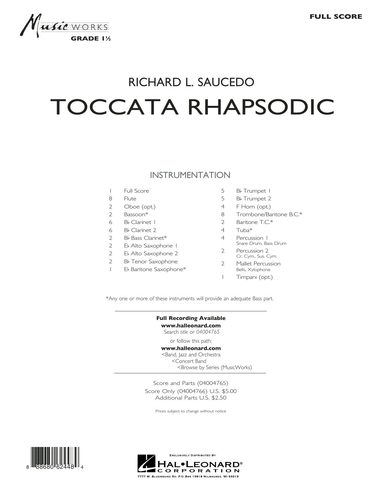 Toccata Rhapsodic - Conductor Score (Full Score)