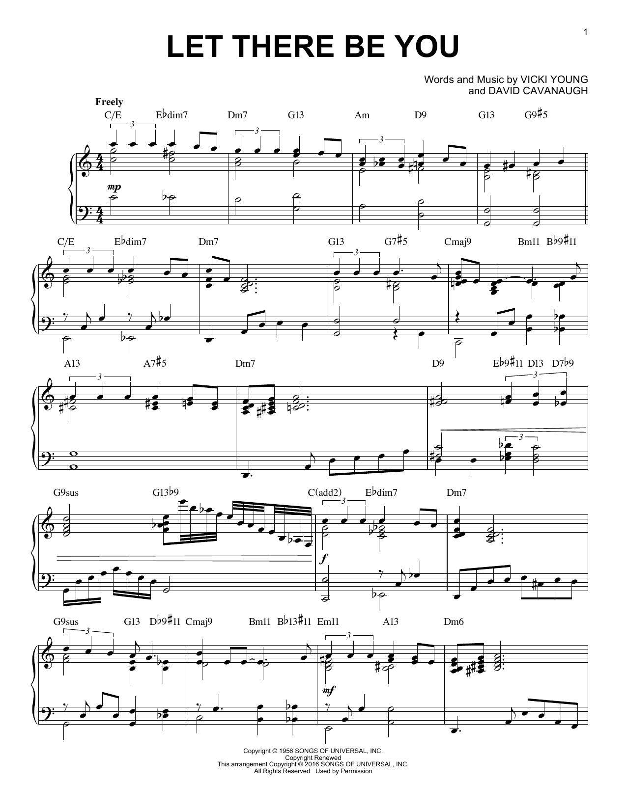 Partition piano Let There Be You de Dave Cavanaugh - Piano Solo