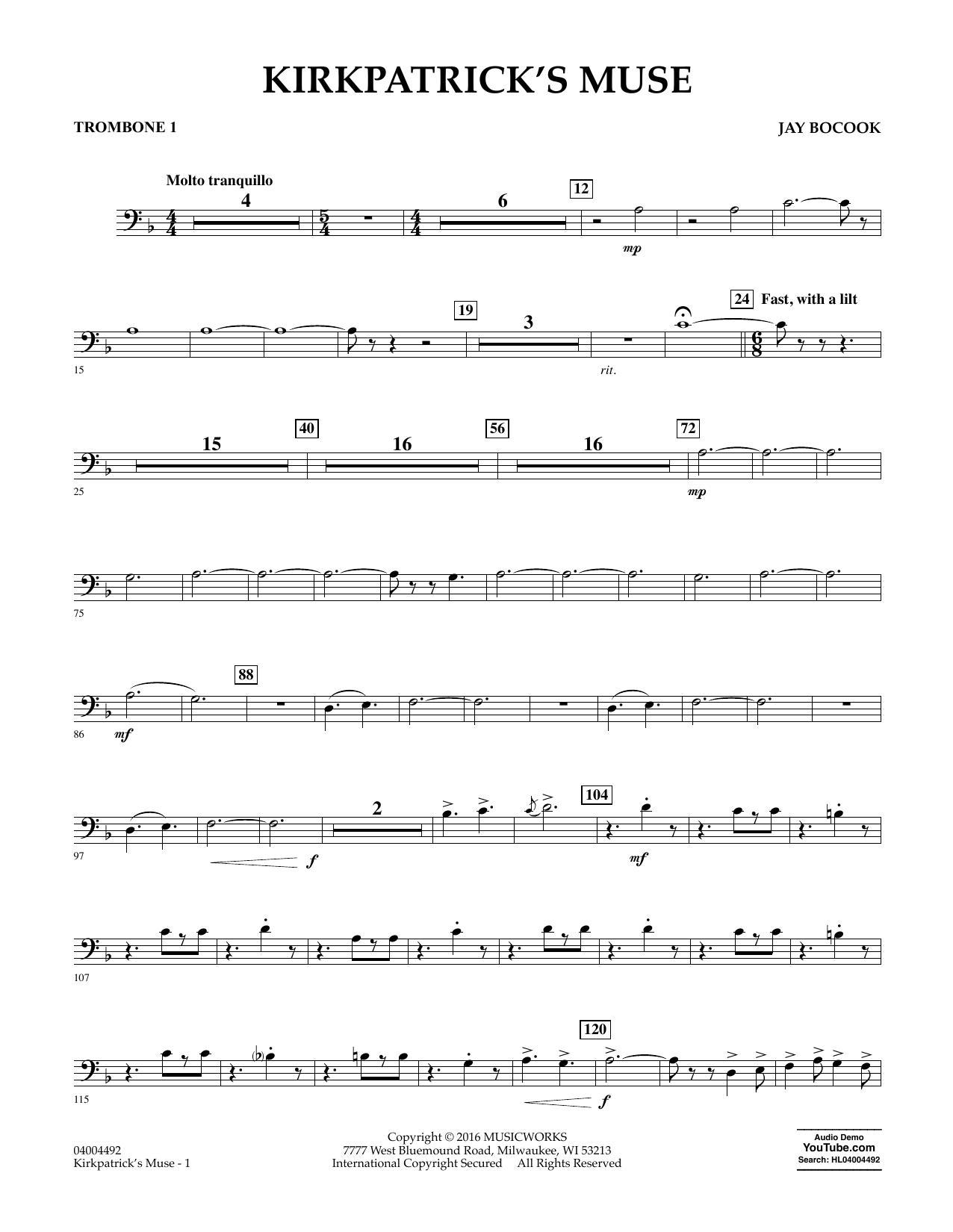 Kirkpatrick's Muse - Trombone 1