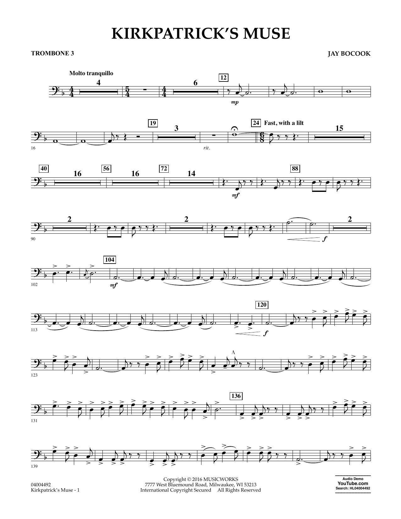 Kirkpatrick's Muse - Trombone 3
