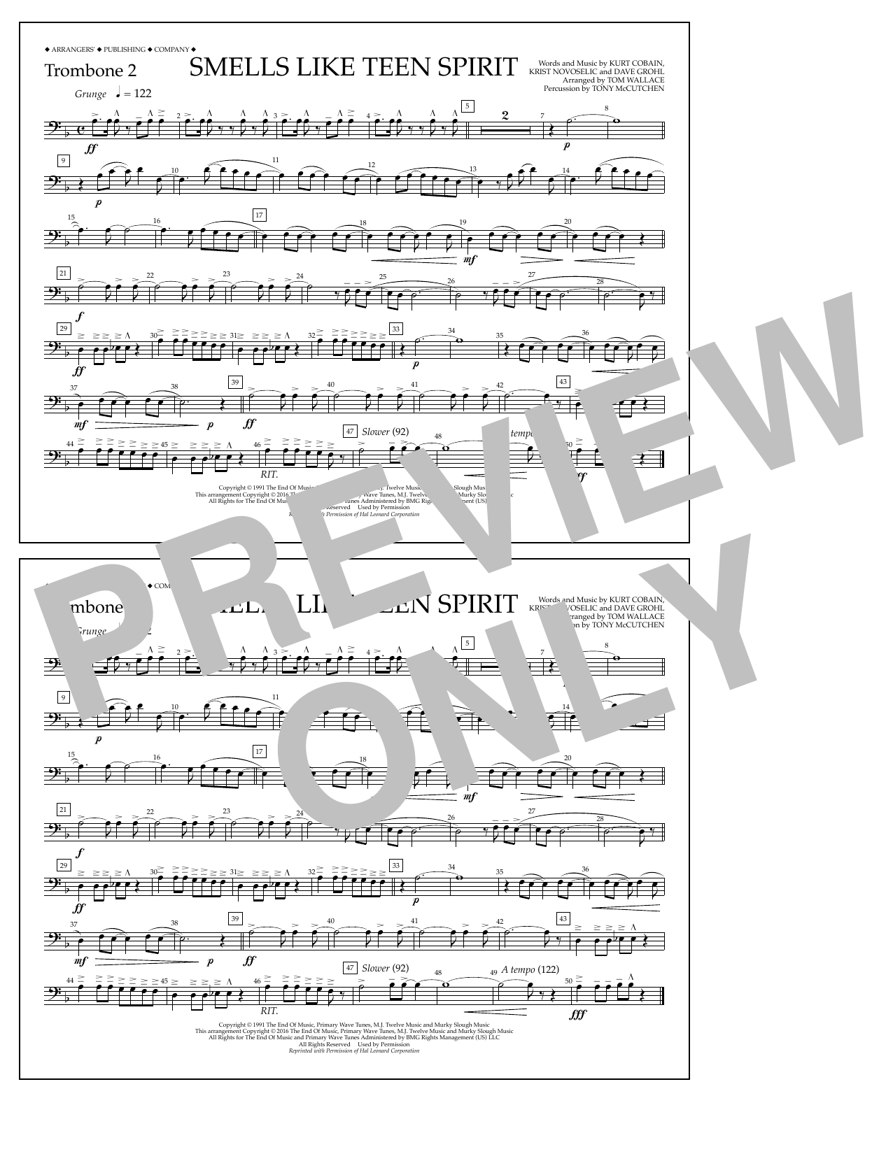 Nirvana - Smells Like Teen Spirit - Trombone 2