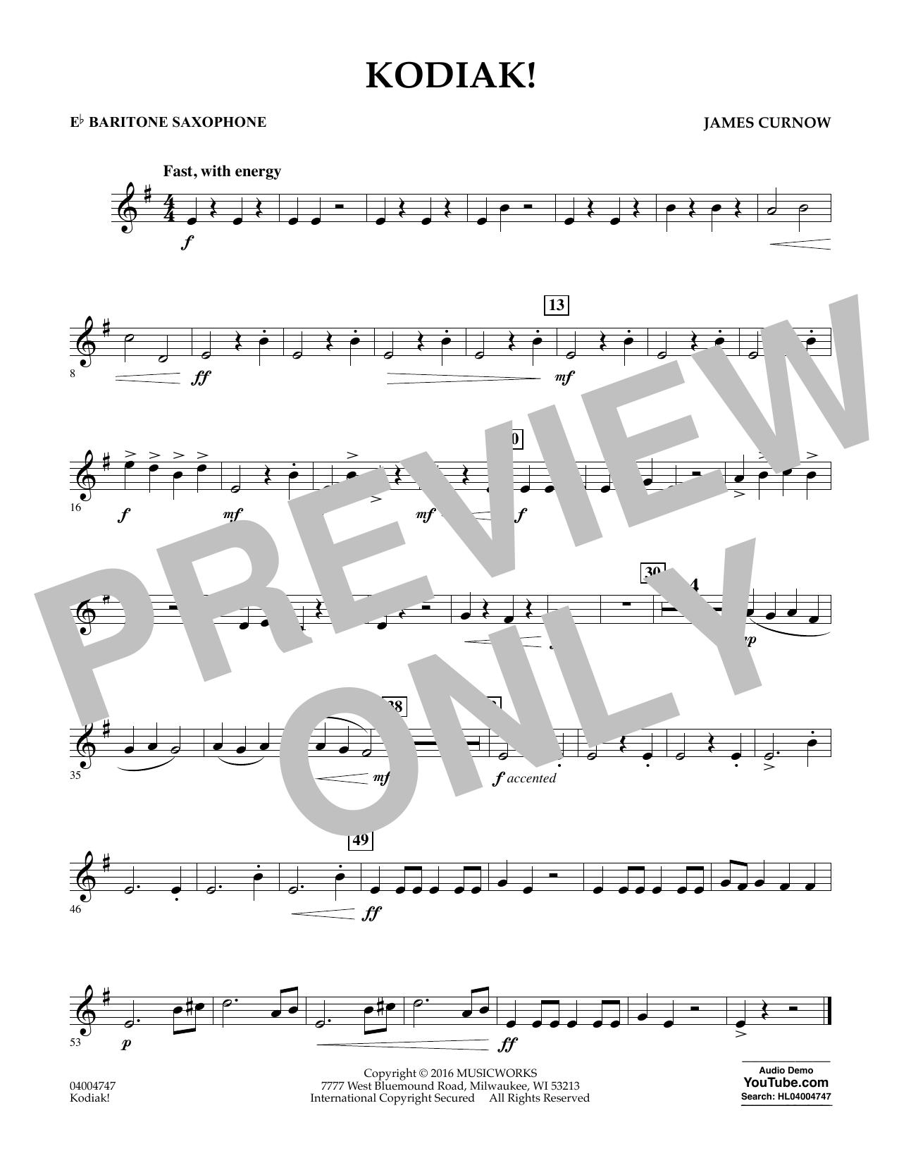 Kodiak! - Eb Baritone Saxophone