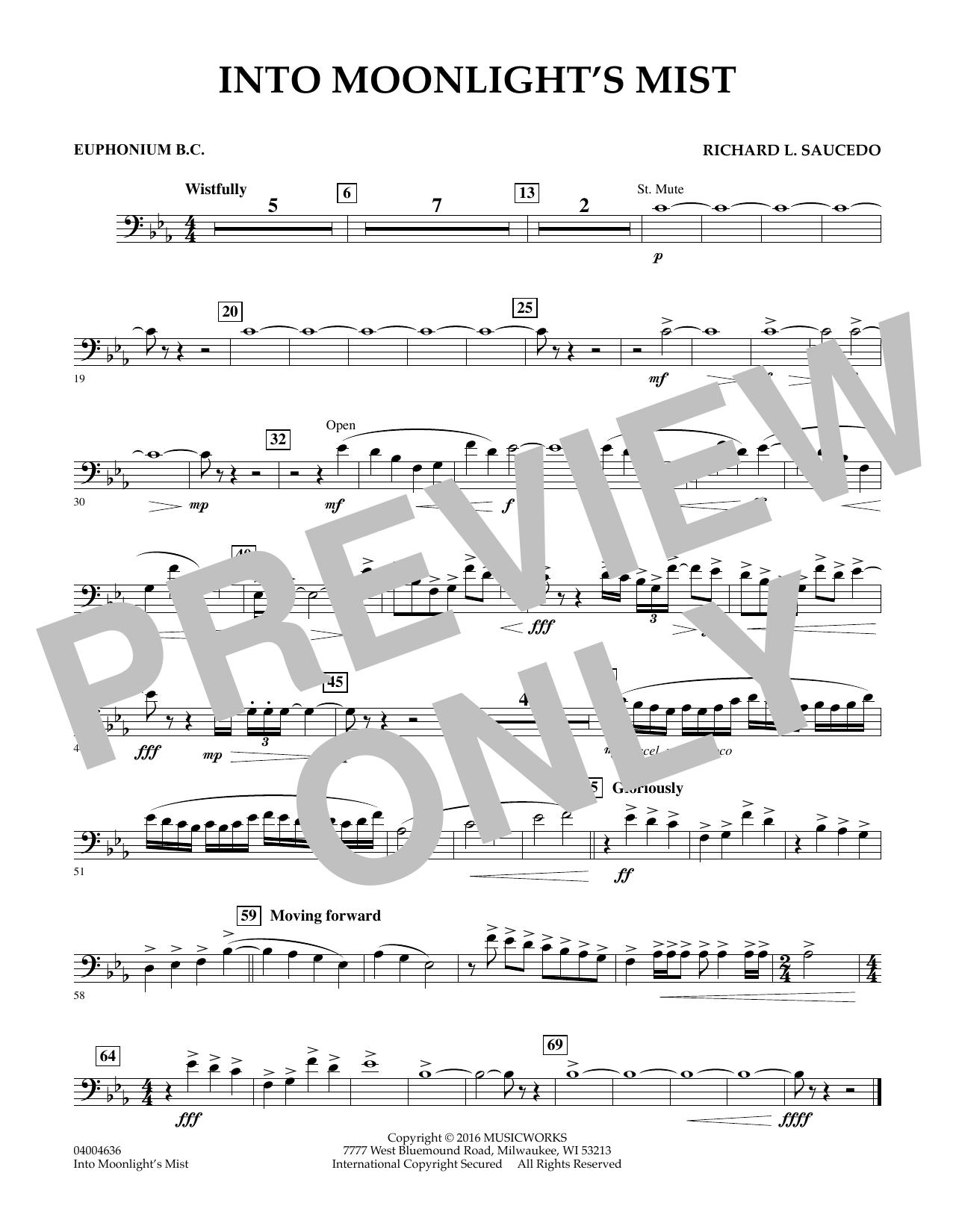 Into Moonlight's Mist - Euphonium in Bass Clef