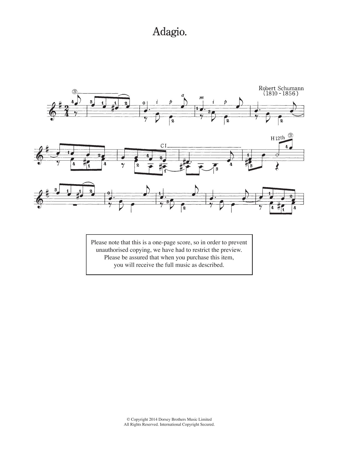 Robert Schumann - Adagio