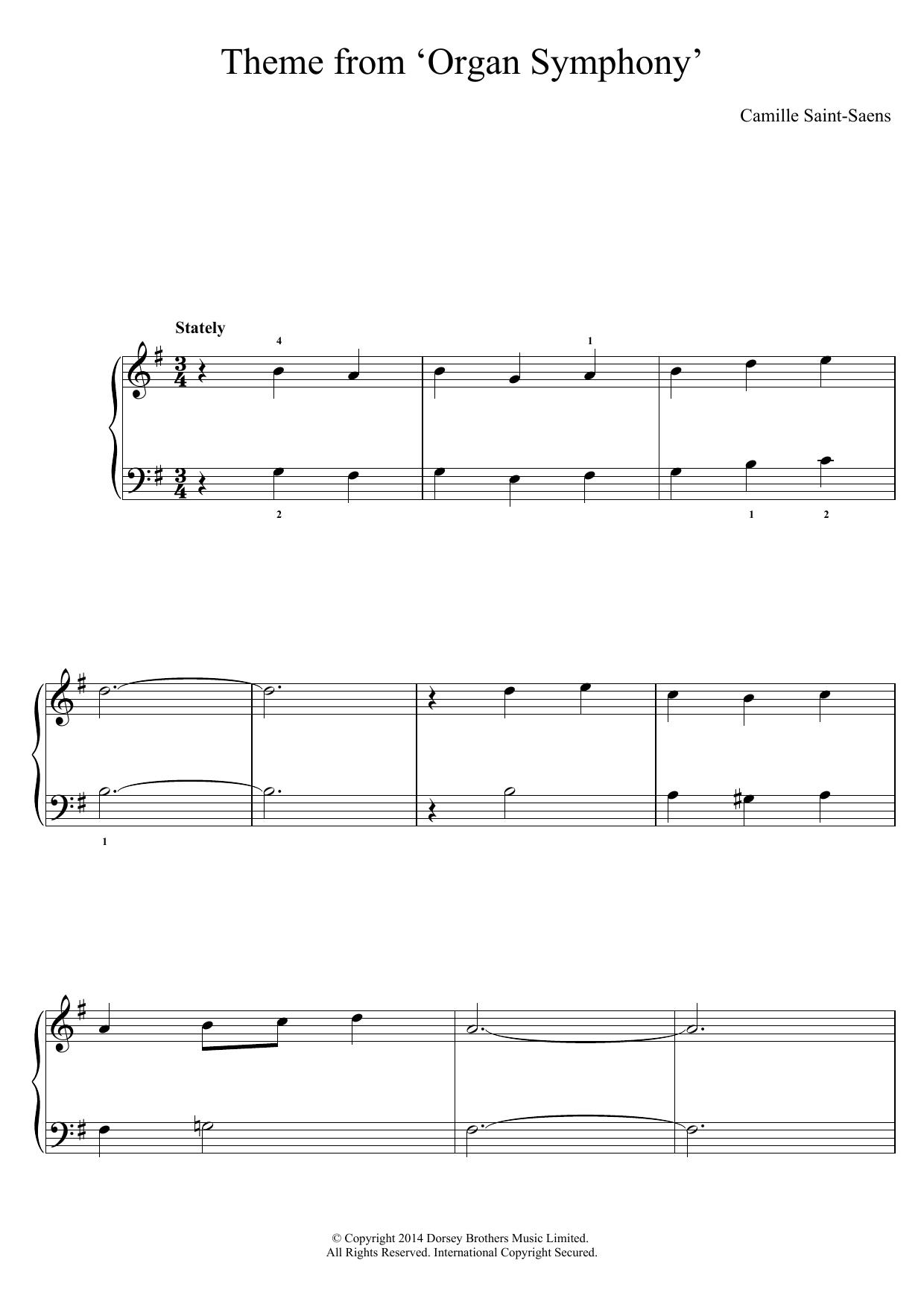 Camille Saint-Saens - 'Organ' Symphony (Theme)
