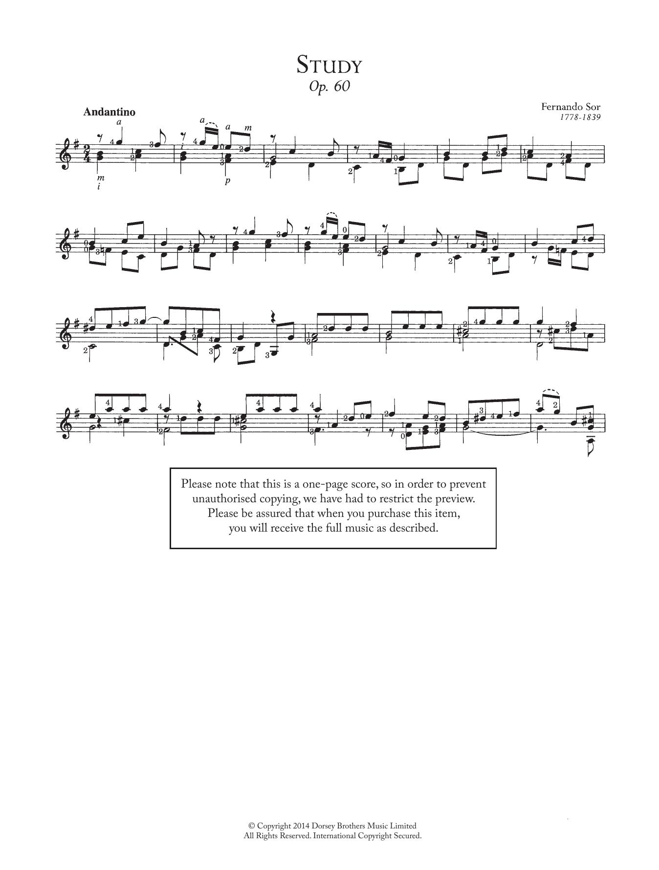 Fernando Sor - Study, Op.60