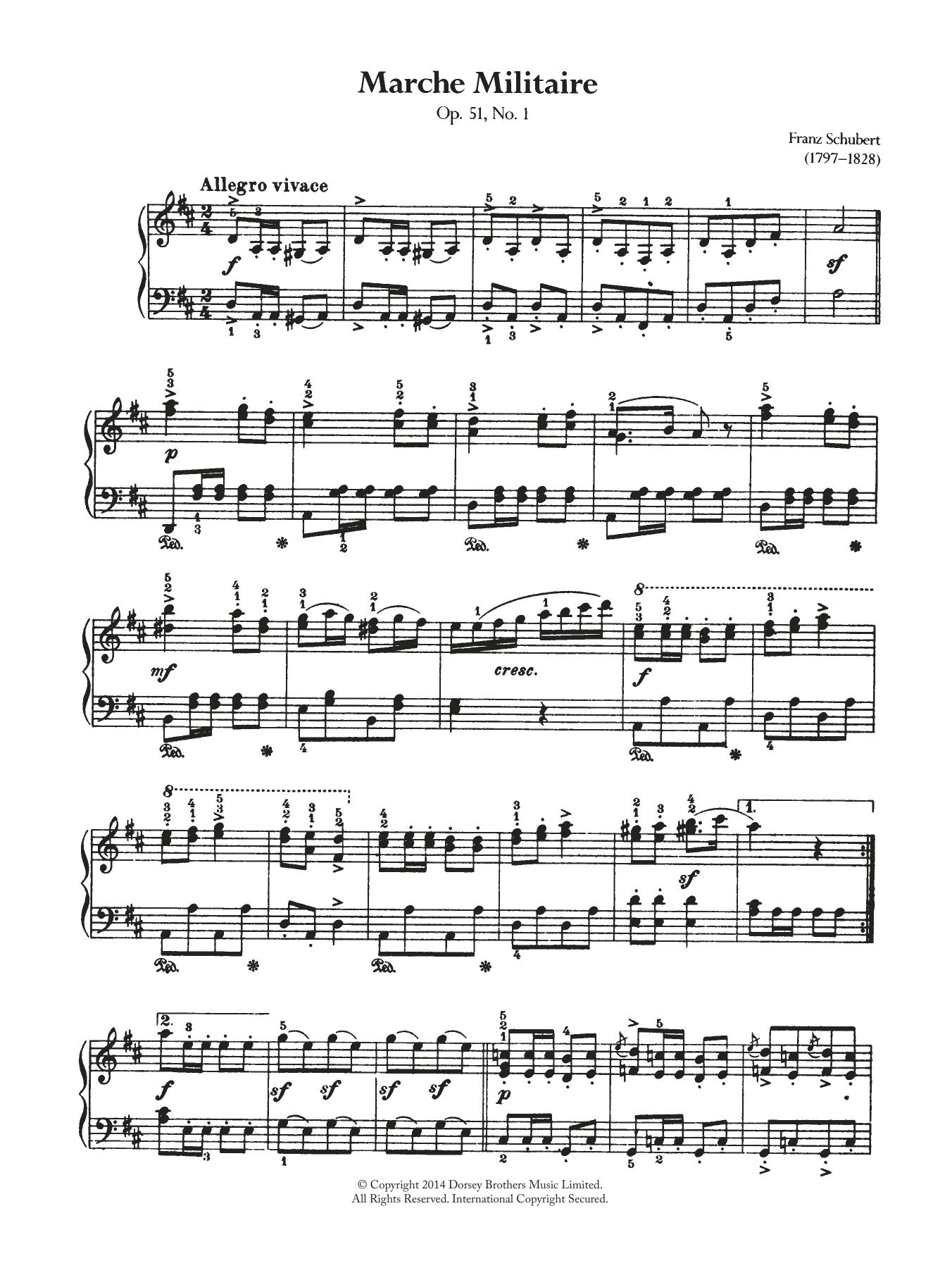 Franz Schubert - Marche Militaire
