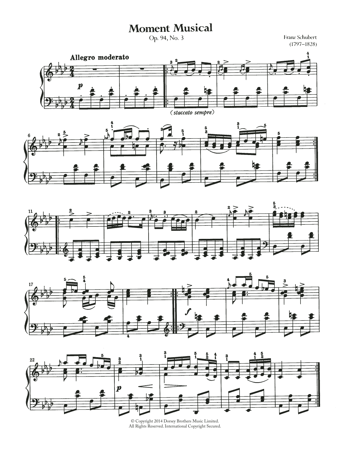Franz Schubert - Moment Musical