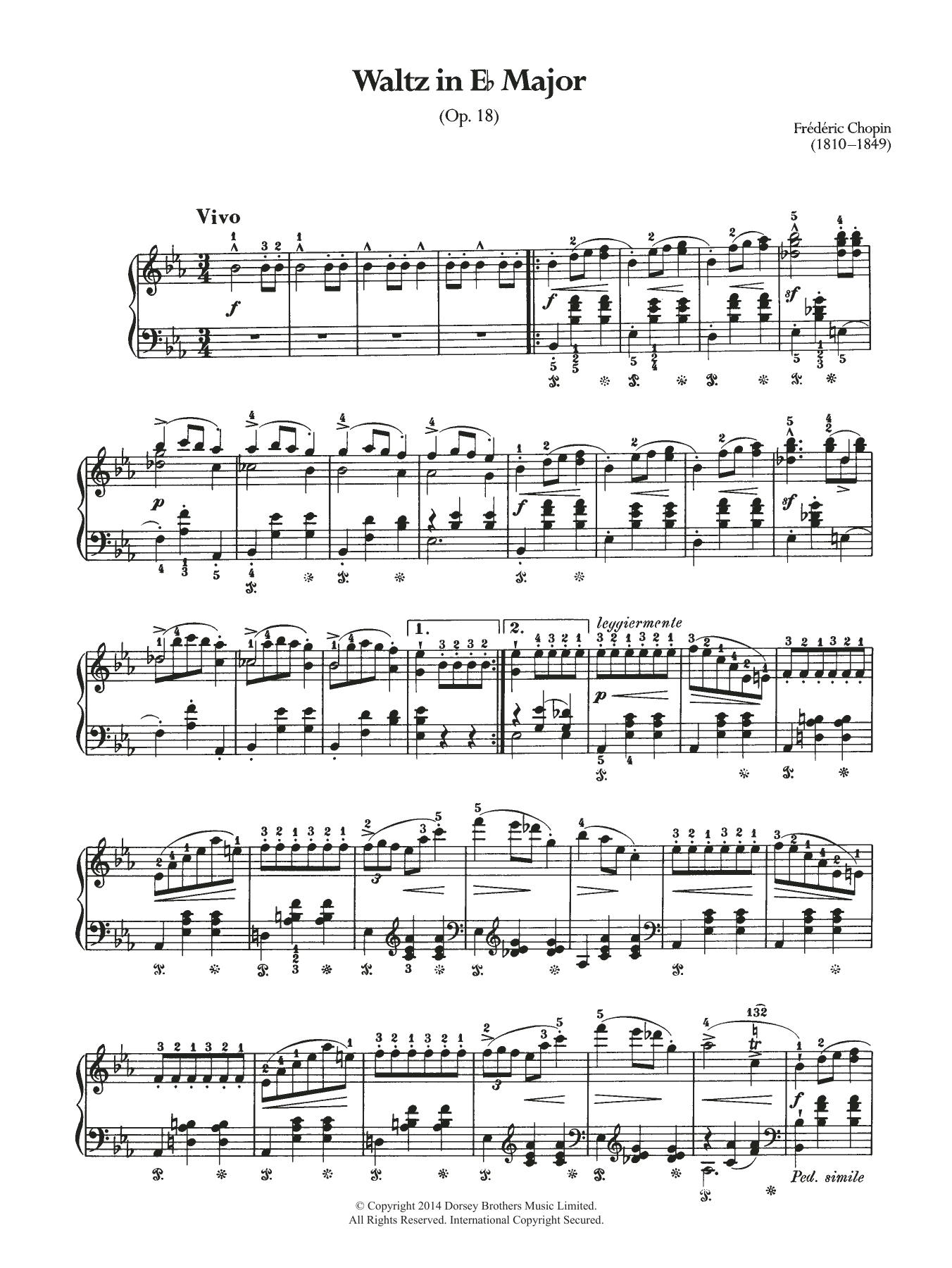 Frederic Chopin - Waltz Op.18 (from 'Les Sylphides')