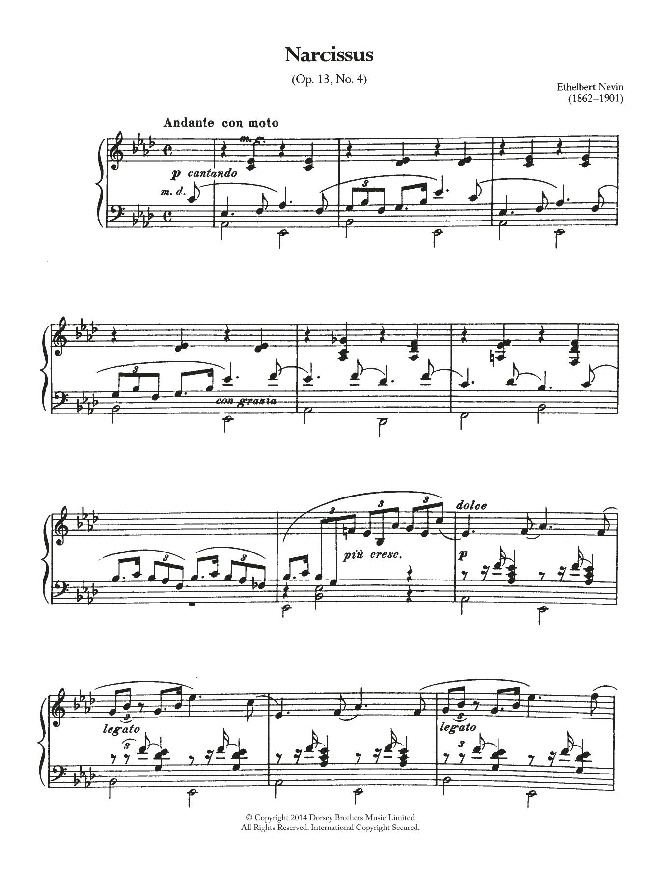Ethelbert Nevin - Narcissus (Opus 13 No.4)