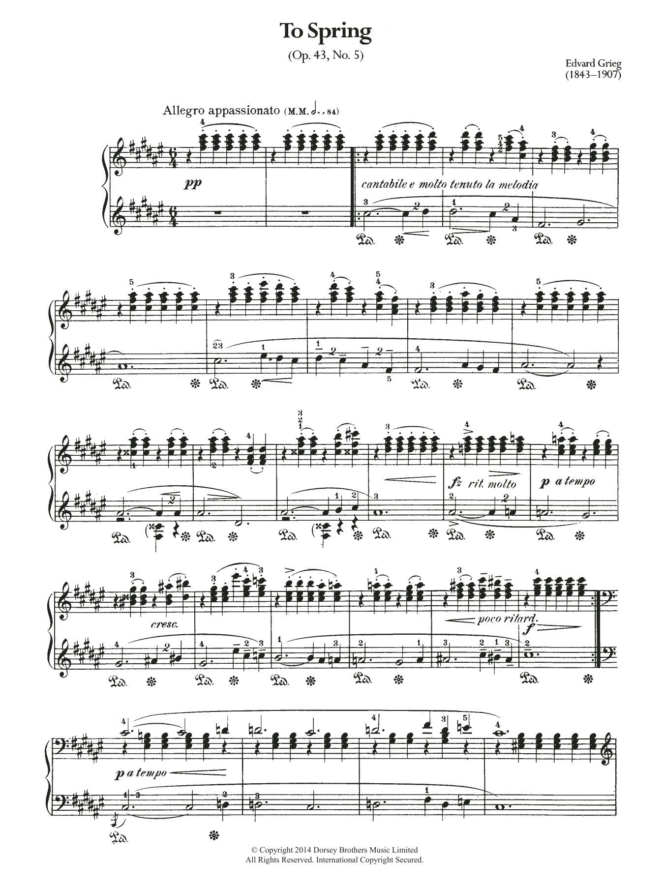 Edvard Grieg - To Spring, Op.43 No.5