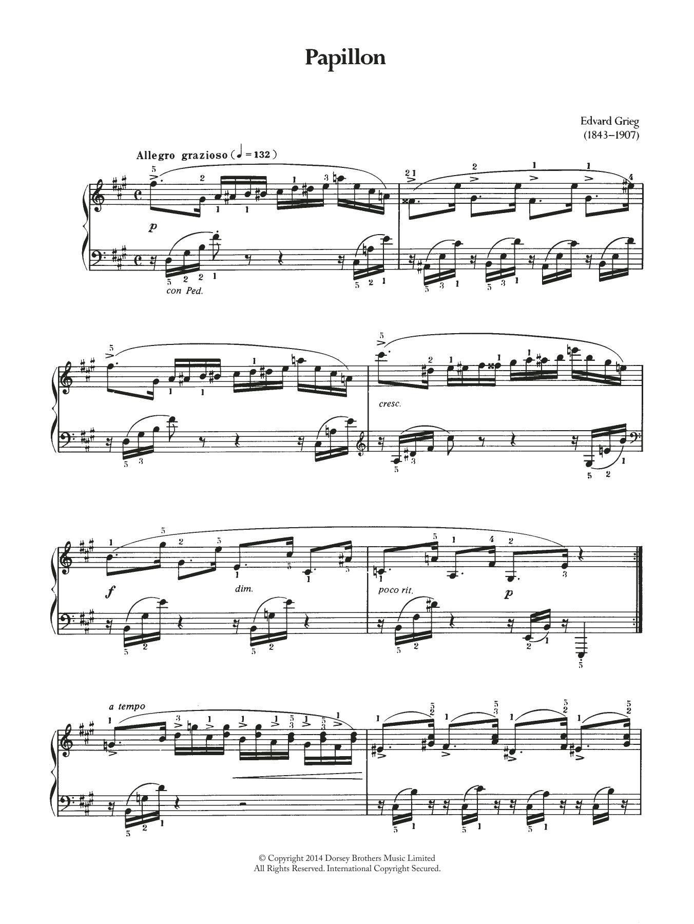 Edvard Grieg - Papillon
