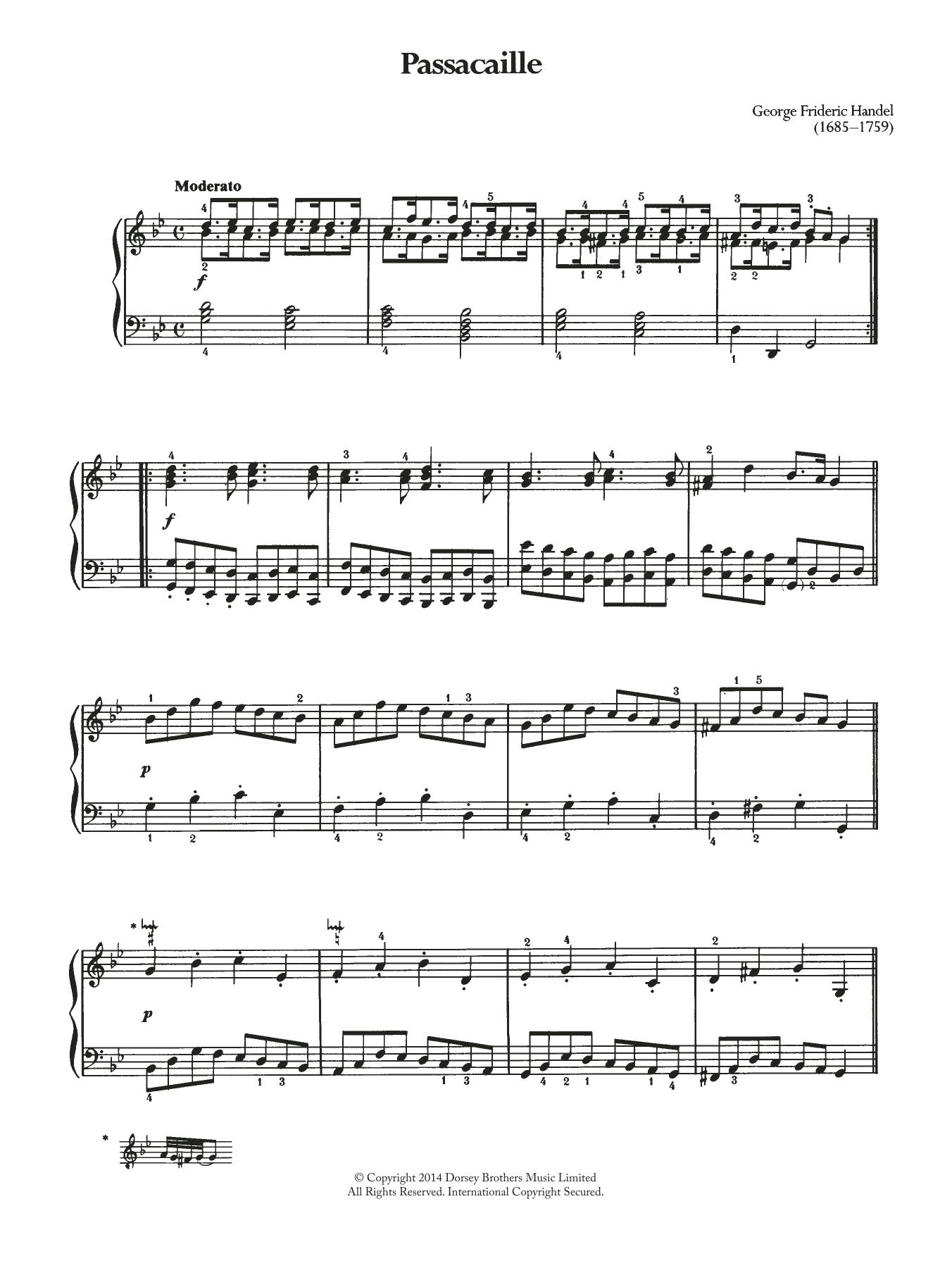 George Frideric Handel - Passacaille