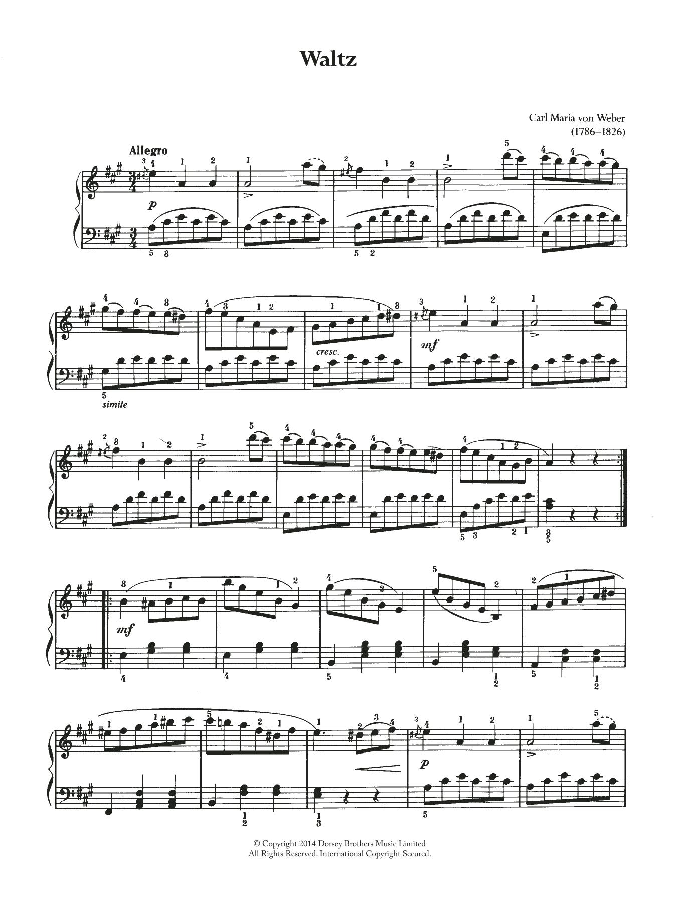 Carl Maria von Weber - Waltz