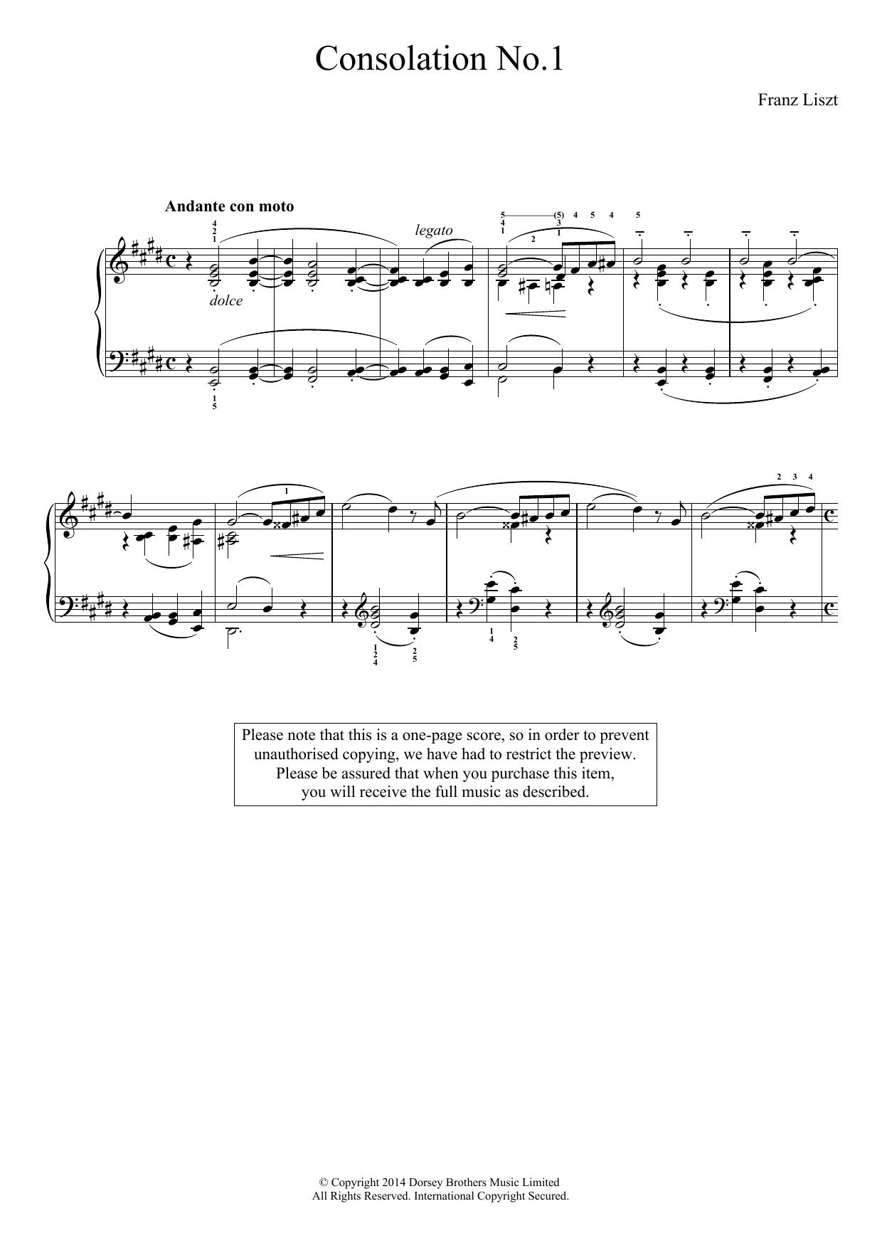 Franz Liszt - Consolation No.1