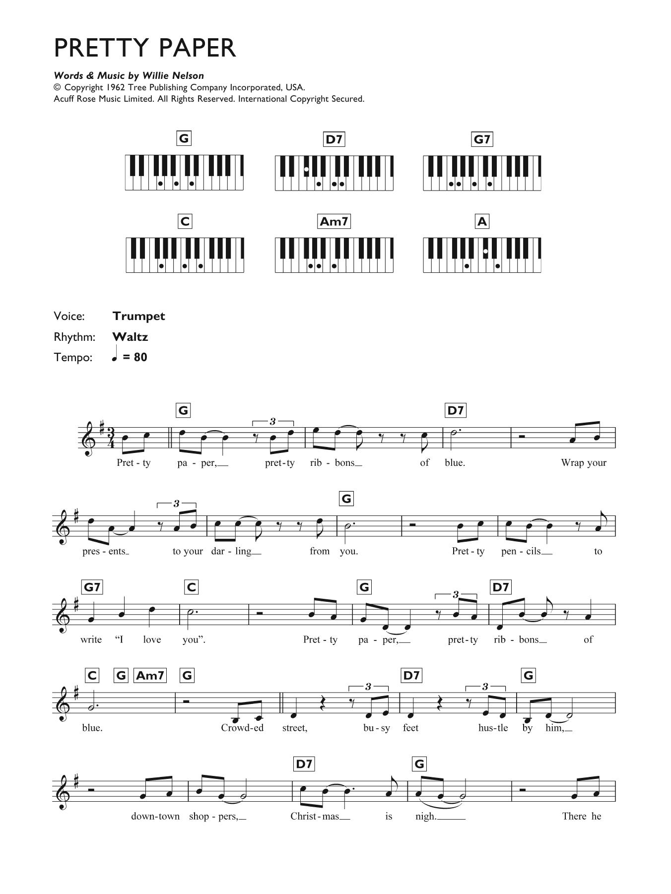 Sheet Music Digital Files To Print Licensed Willie Nelson Digital