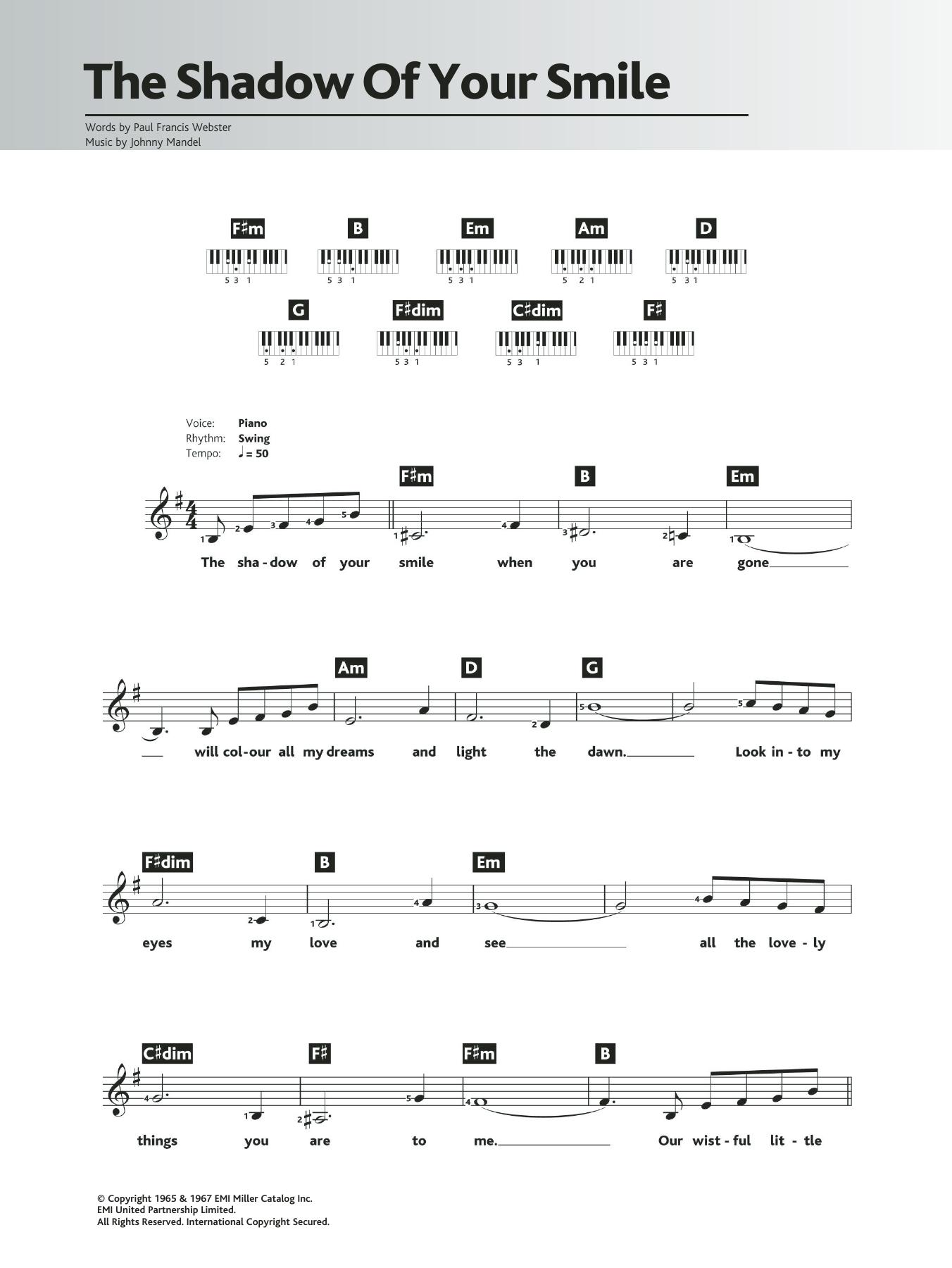 Sheet Music Digital Files To Print Licensed Paul Francis Webster