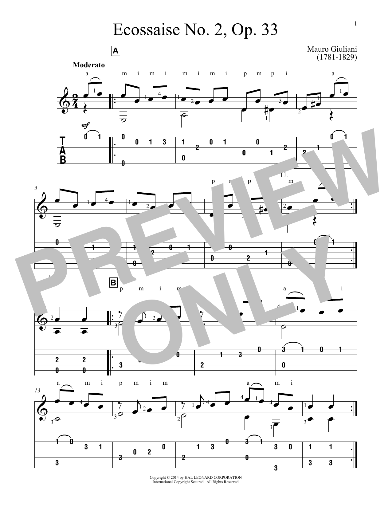 Ecossaise No. 2, Op. 33