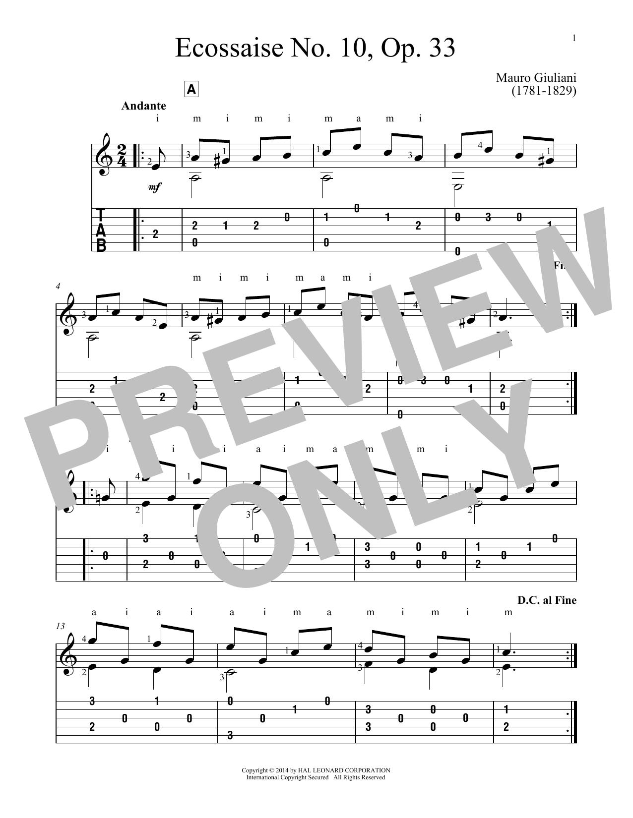 Ecossaise No. 10, Op. 33