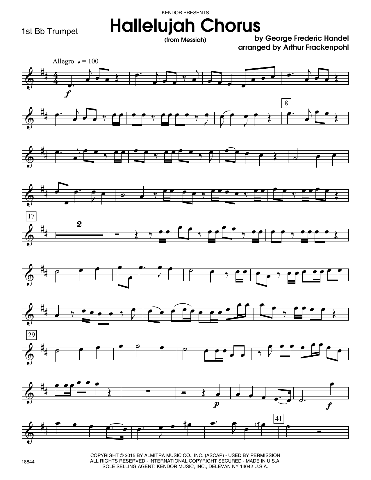 Hallelujah chorus from messiah 1st bb trumpet sheet music at hallelujah chorus from messiah 1st bb trumpet sheet music at stantons sheet music hexwebz Images