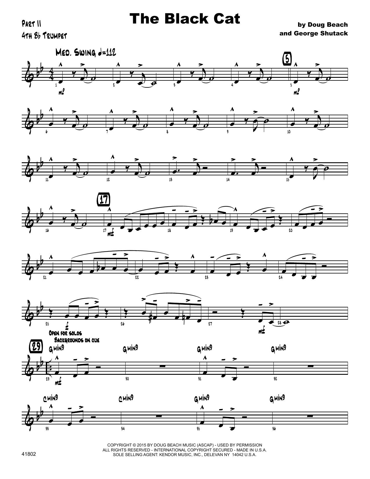 George Shutack - The Black Cat - 4th Bb Trumpet