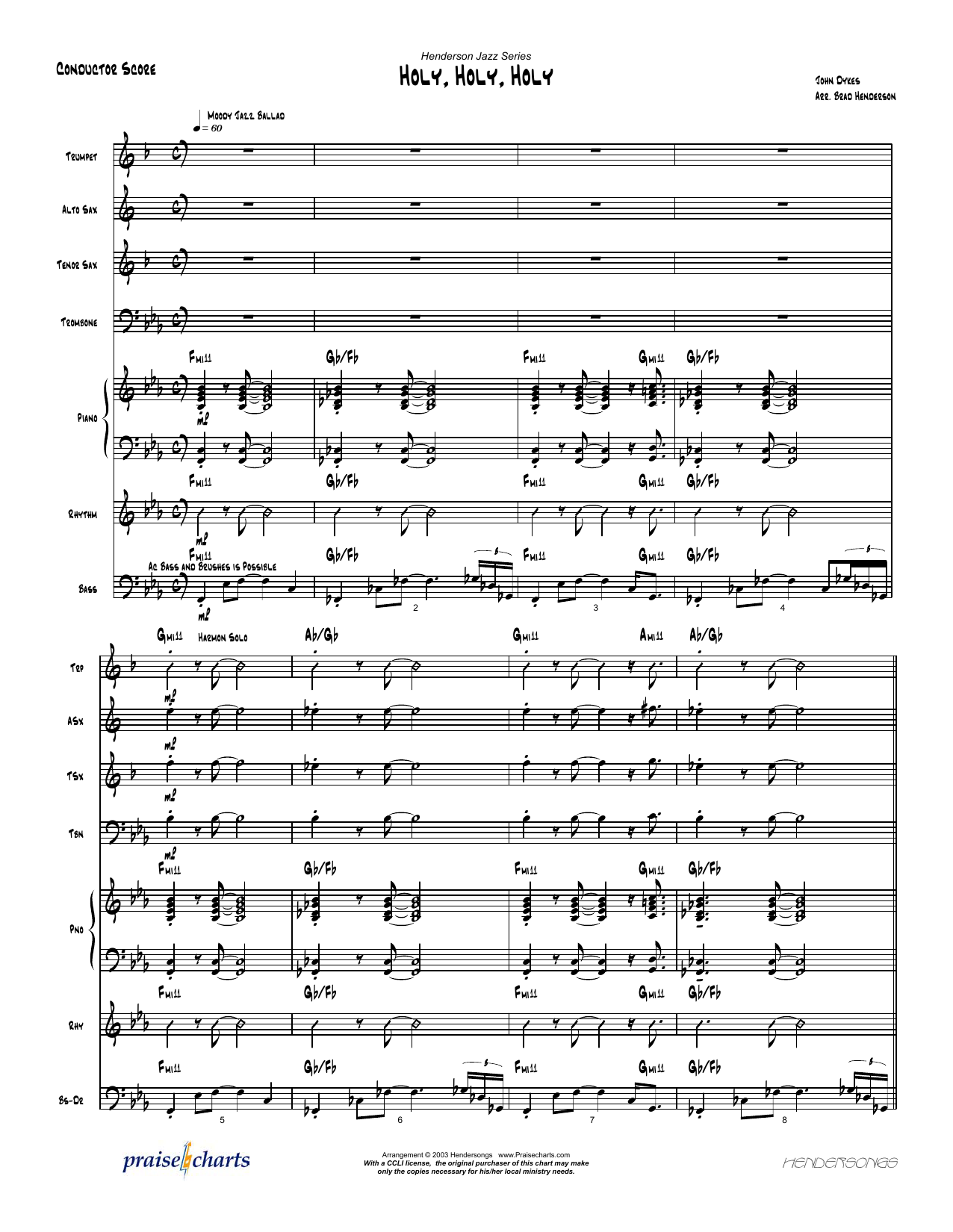 Brad Henderson - Holy Holy Holy - Orchestration