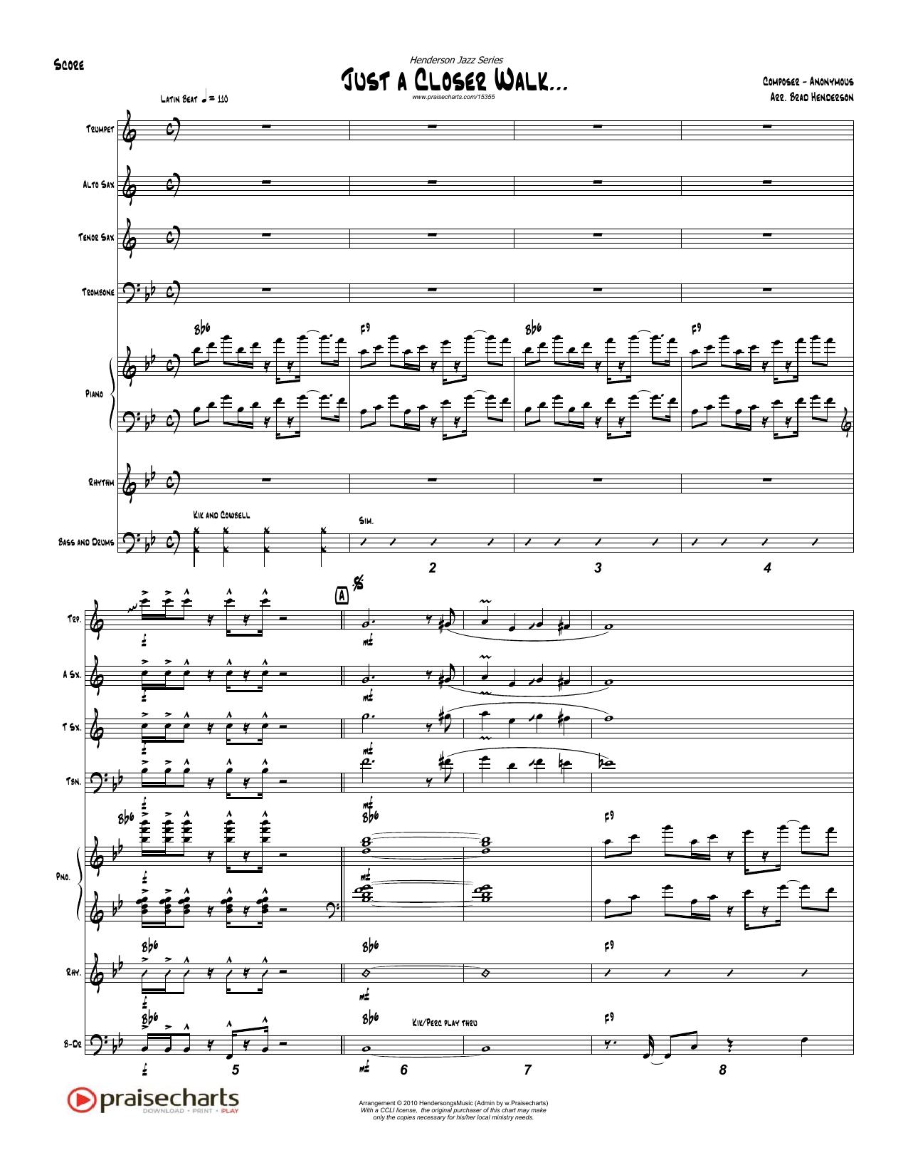 Just A Closer Walk - Orchestration