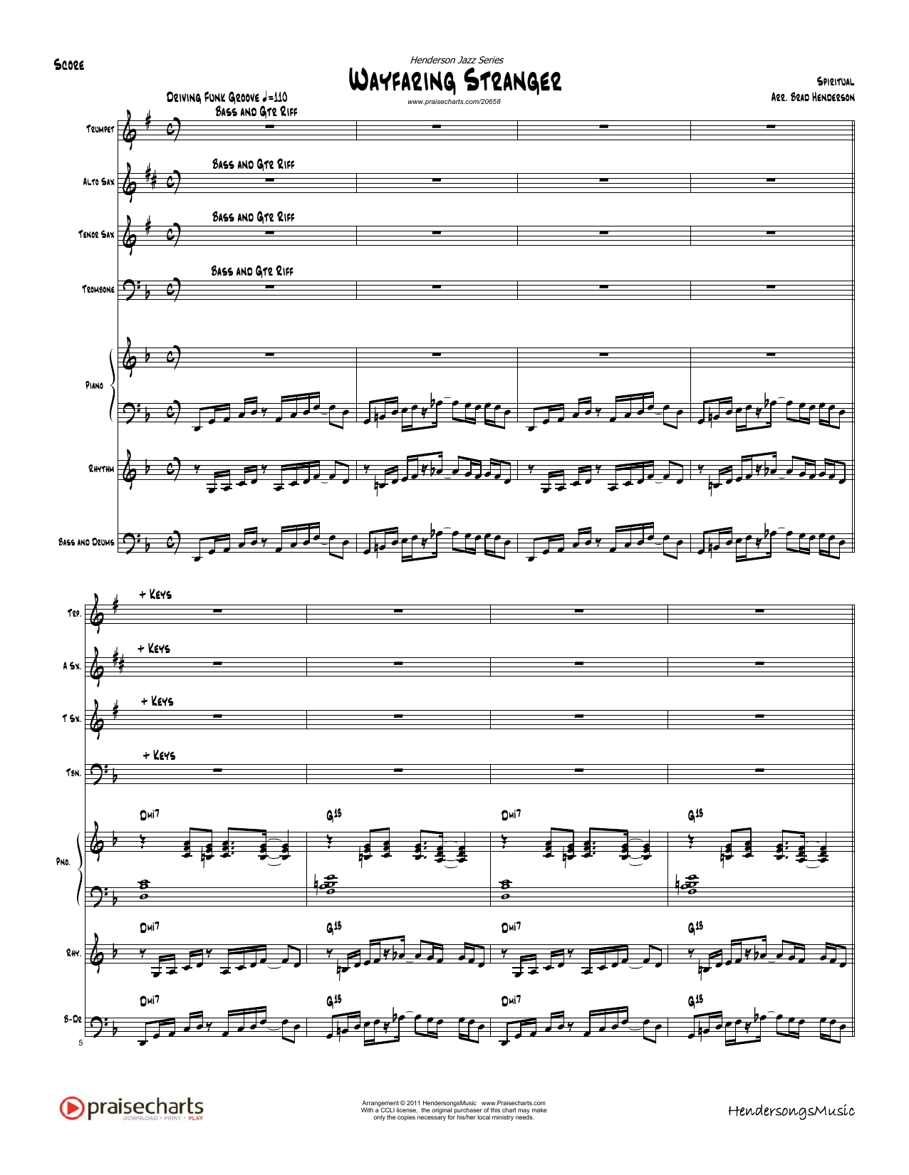 Wayfaring Stranger - Orchestration