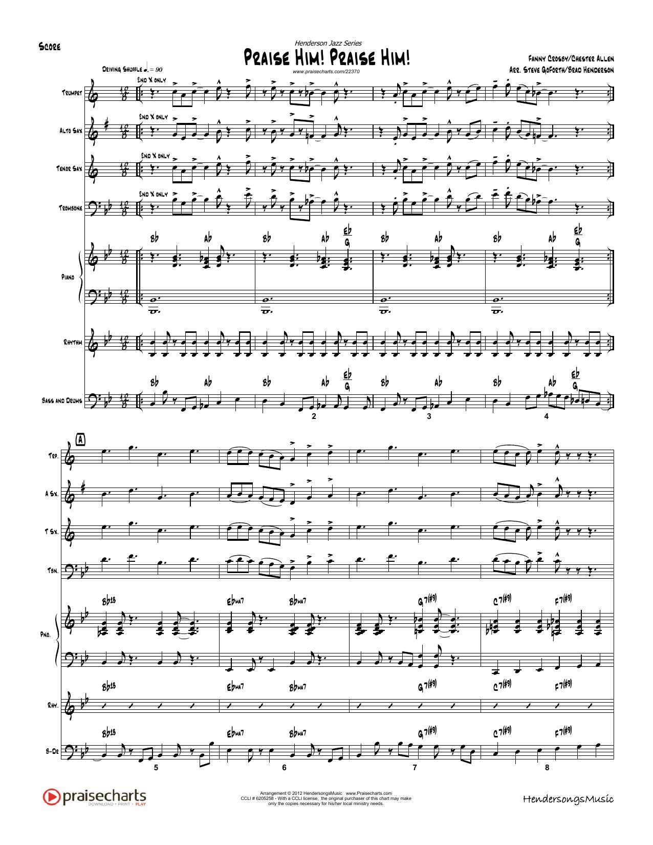 Fanny Crosby - Praise Him Praise Him - Orchestration