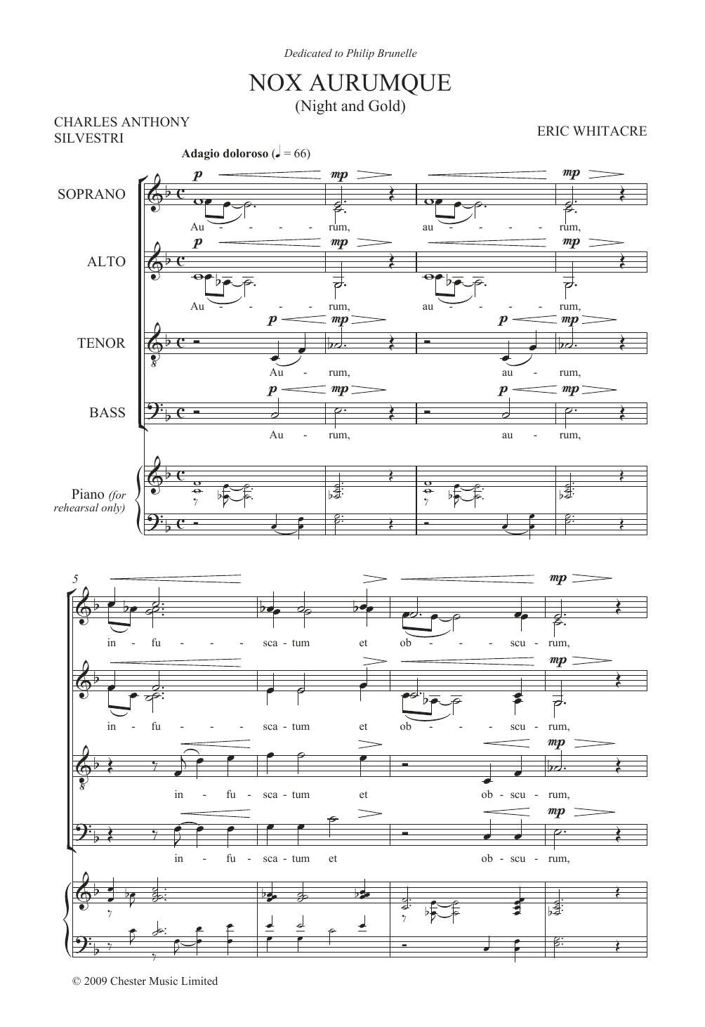 Eric Whitacre - Nox Aurumque