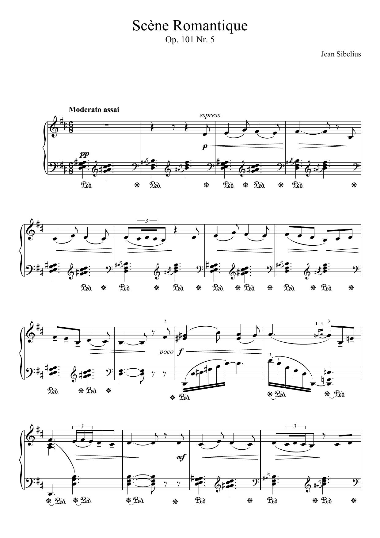 Jean Sibelius - 5 Morceaux Romantiques, Op.101 - V. Scene Romantique