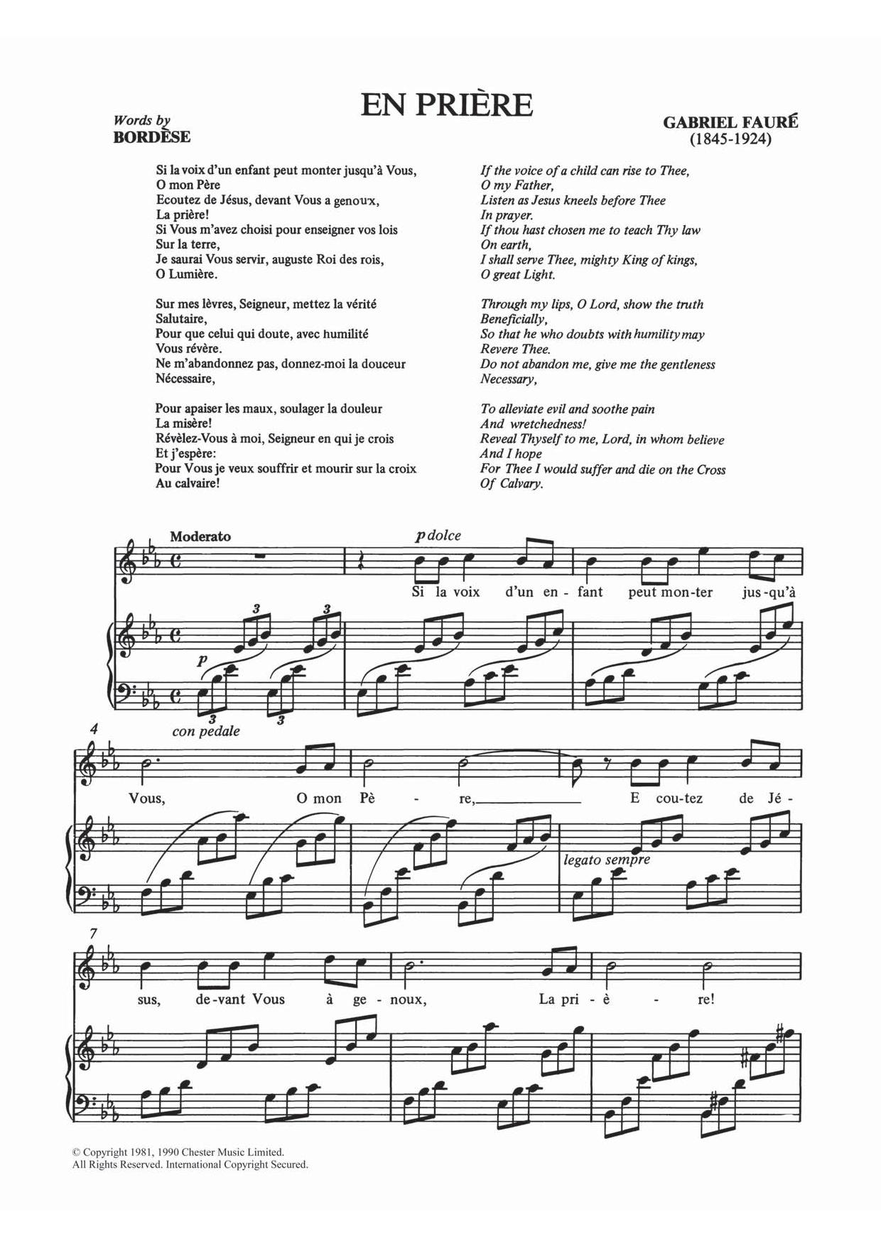 Gabriel Fauré - En Priere
