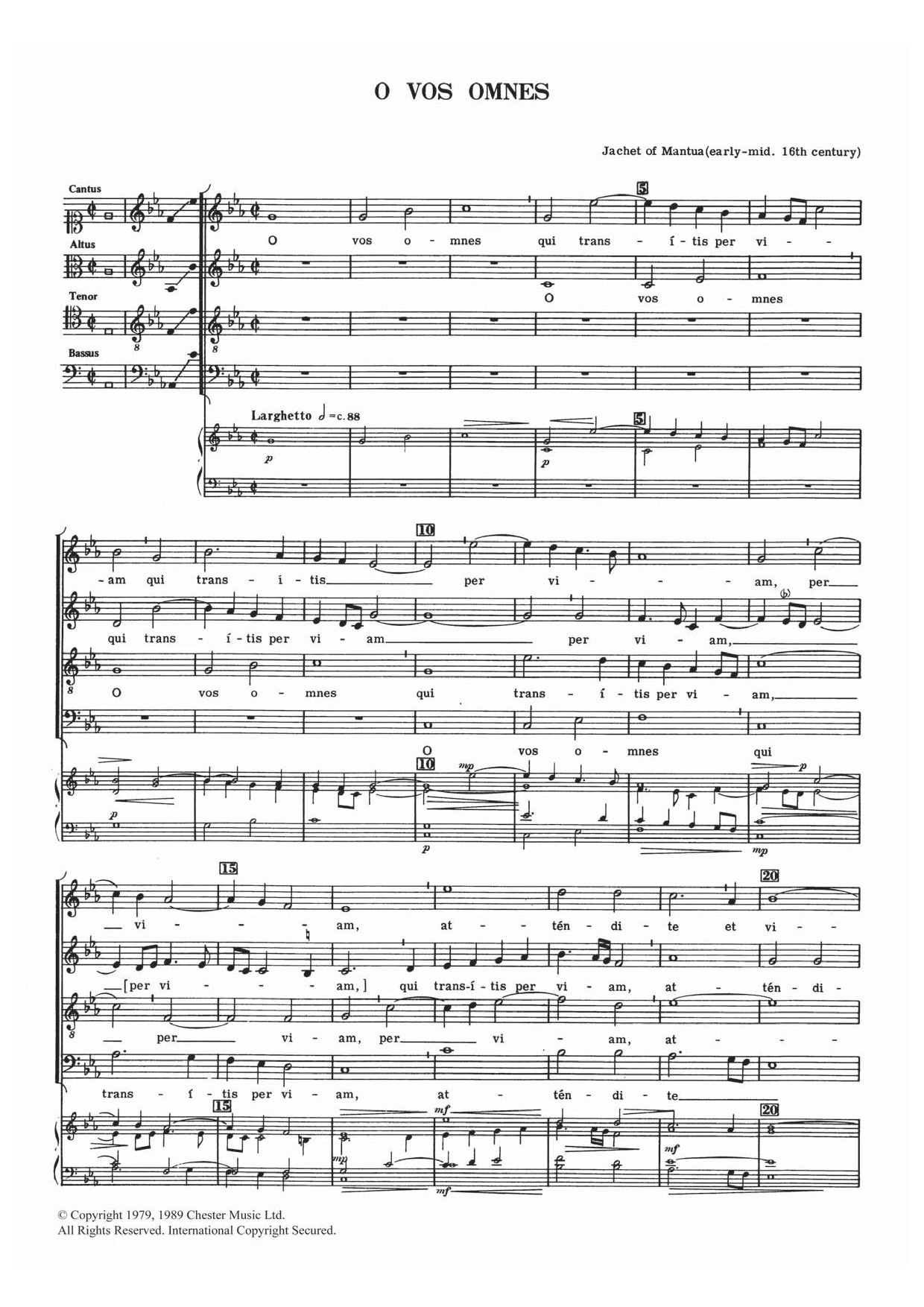 Jachet of Mantua - O Vos Omnes