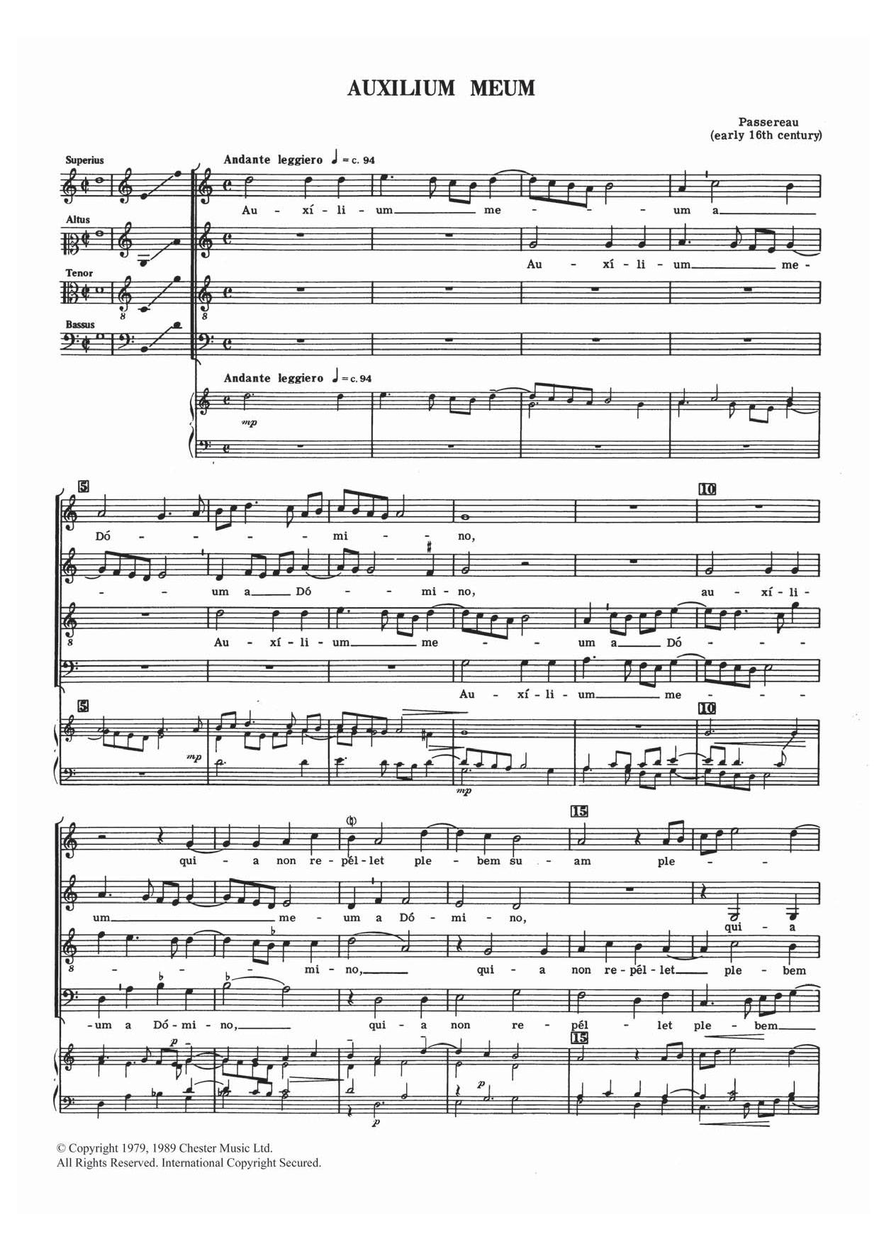 Pierre Passereau - Auxilium Meum