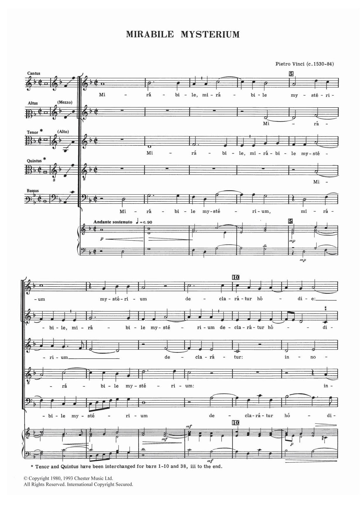 Pietro Vinci - Mirabile Mysterium