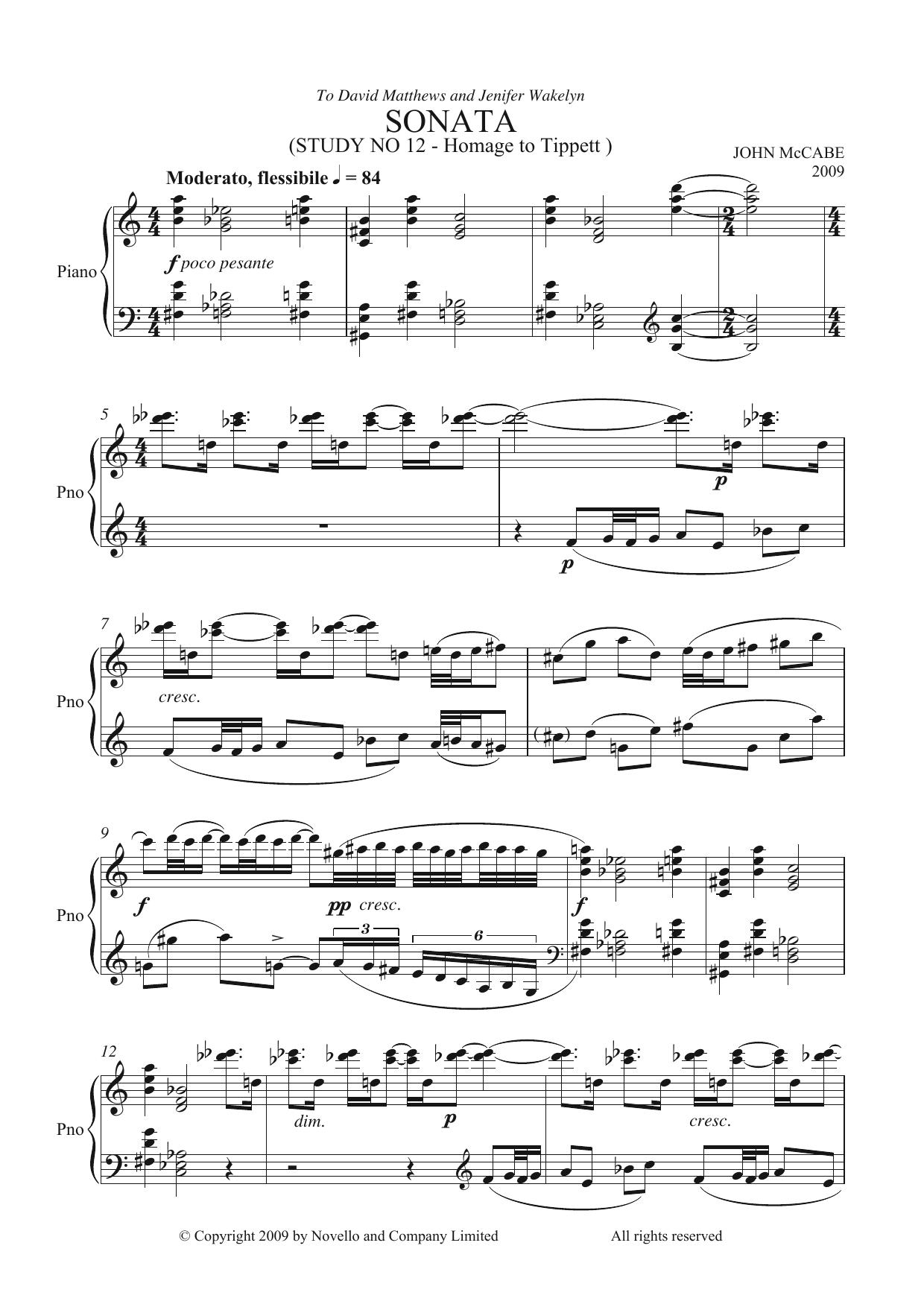 John McCabe - Sonata (Study No. 12)