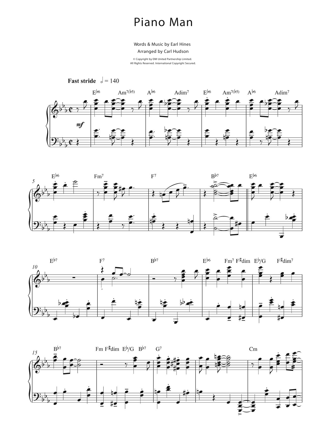 Earl Hines - Piano Man