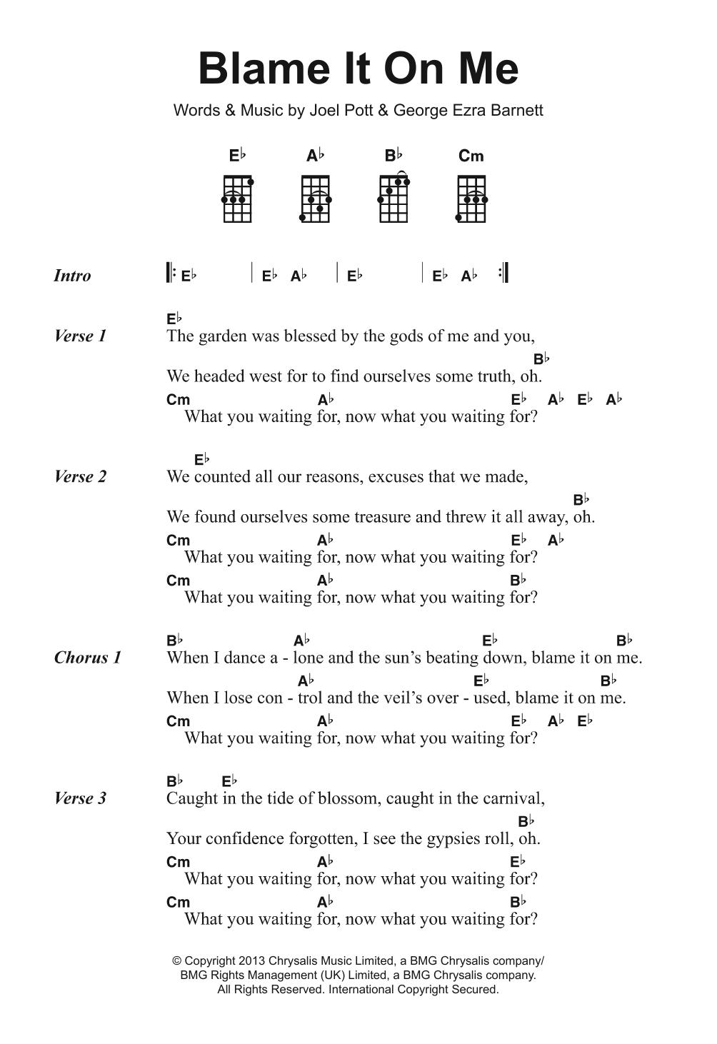 Sheet Music Digital Files To Print - Licensed George Ezra