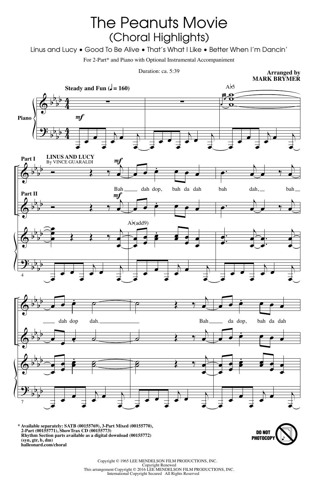 Partition chorale Better When I'm Dancin' de  - 2 voix