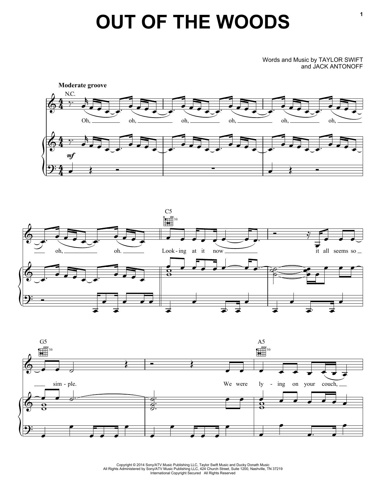 Partition autre Out Of The Woods de Taylor Swift - Autre
