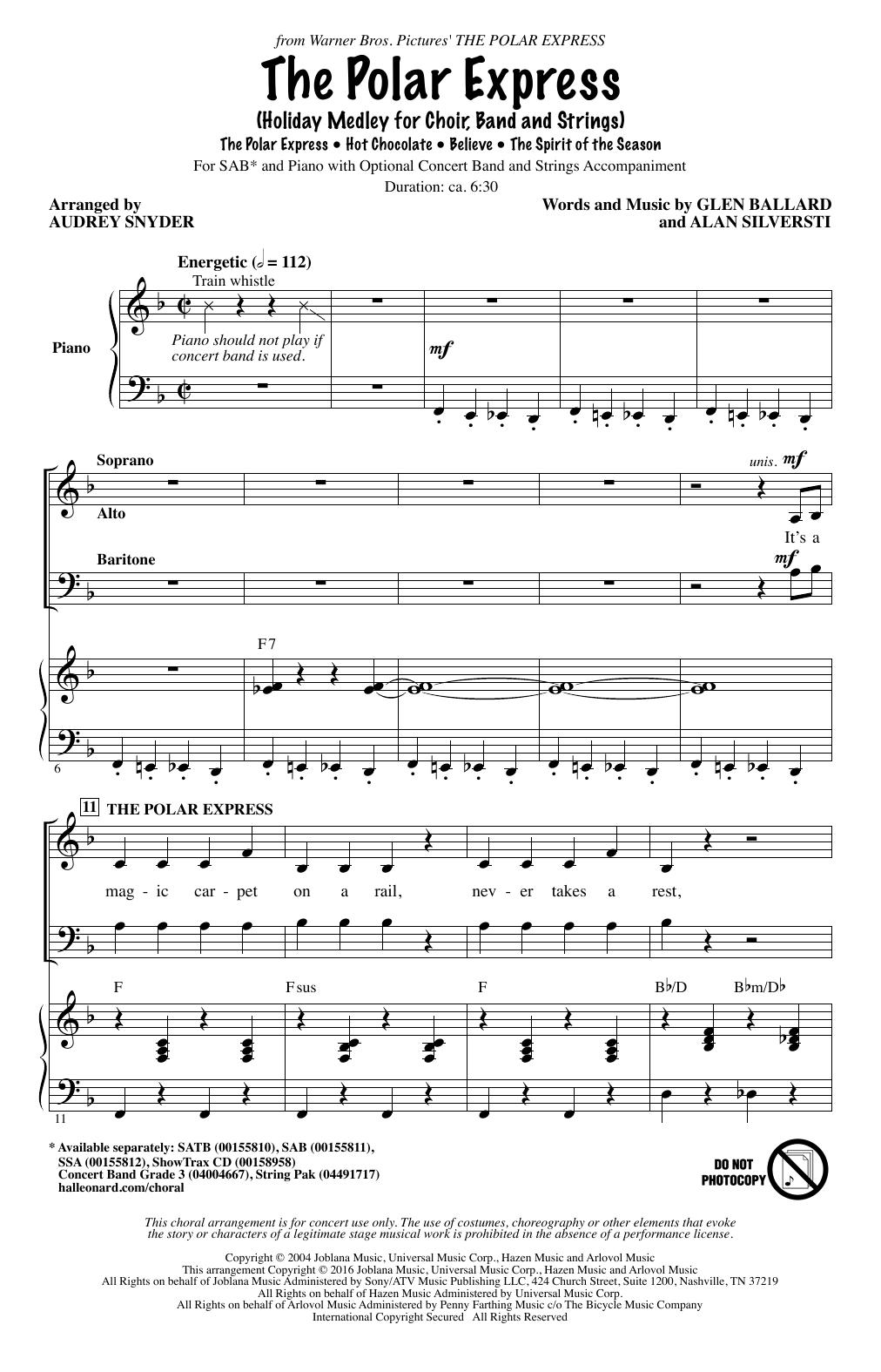 Partition chorale The Polar Express (Holiday Medley) de Alan Silvestri - SAB