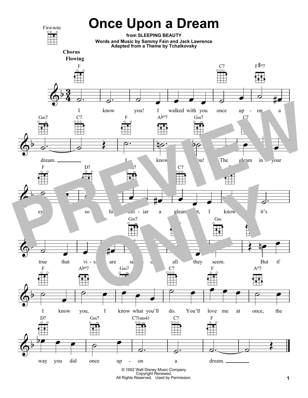 Tablature guitare Once Upon A Dream de Sammy Fain - Ukulele