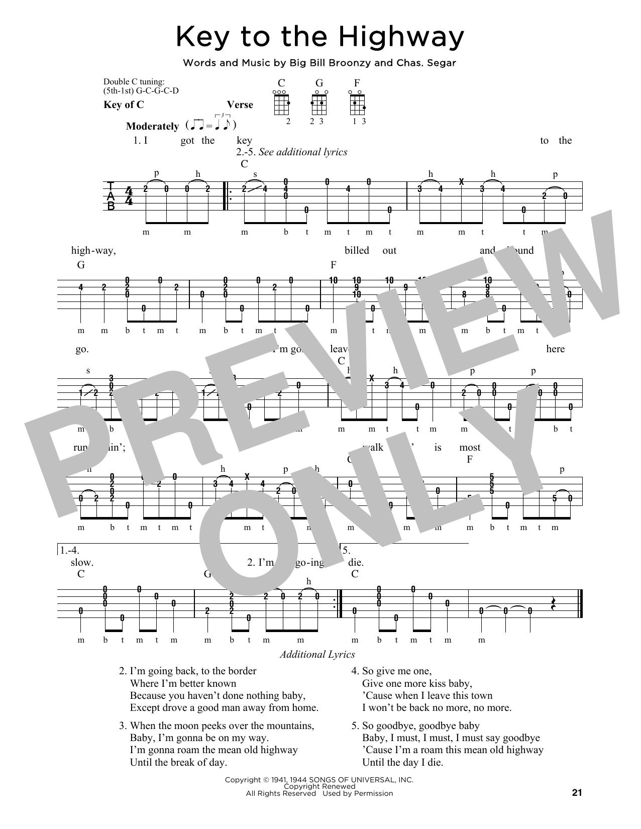 Partition autre Key To The Highway de Eric Clapton - Autre